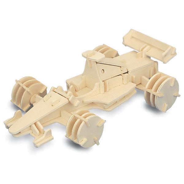 Формула 1 (мал.), Мир деревянных игрушекДеревянные модели<br>Порадовать любящего гонки творческого ребенка - легко! Подарите ему этот набор, из которого можно самому сделать красивую деревянную фигуру. Для этого нужно выдавить из пластины с деталями элементы для сборки и соединить их. Из наборов получаются красивые очень реалистичные игрушки, которые могут стать украшением комнаты.<br>Собирая их, ребенок будет развивать пространственное мышление, память и мелкую моторику. А раскрашивая готовое произведение, дети научатся подбирать цвета и будут развивать художественные навыки. Этот набор произведен из качественных и безопасных для детей материалов - дерево тщательно обработано.<br><br>Дополнительная информация:<br><br>материал: дерево;<br>цвет: бежевый;<br>элементы: пластины с деталями для сборки, схема сборки;<br>размер упаковки: 23 х 18 см.<br><br>3D-пазл Формула 1 (мал.) от бренда Мир деревянных игрушек можно купить в нашем магазине.<br>Ширина мм: 225; Глубина мм: 30; Высота мм: 180; Вес г: 450; Возраст от месяцев: 36; Возраст до месяцев: 144; Пол: Мужской; Возраст: Детский; SKU: 4969173;