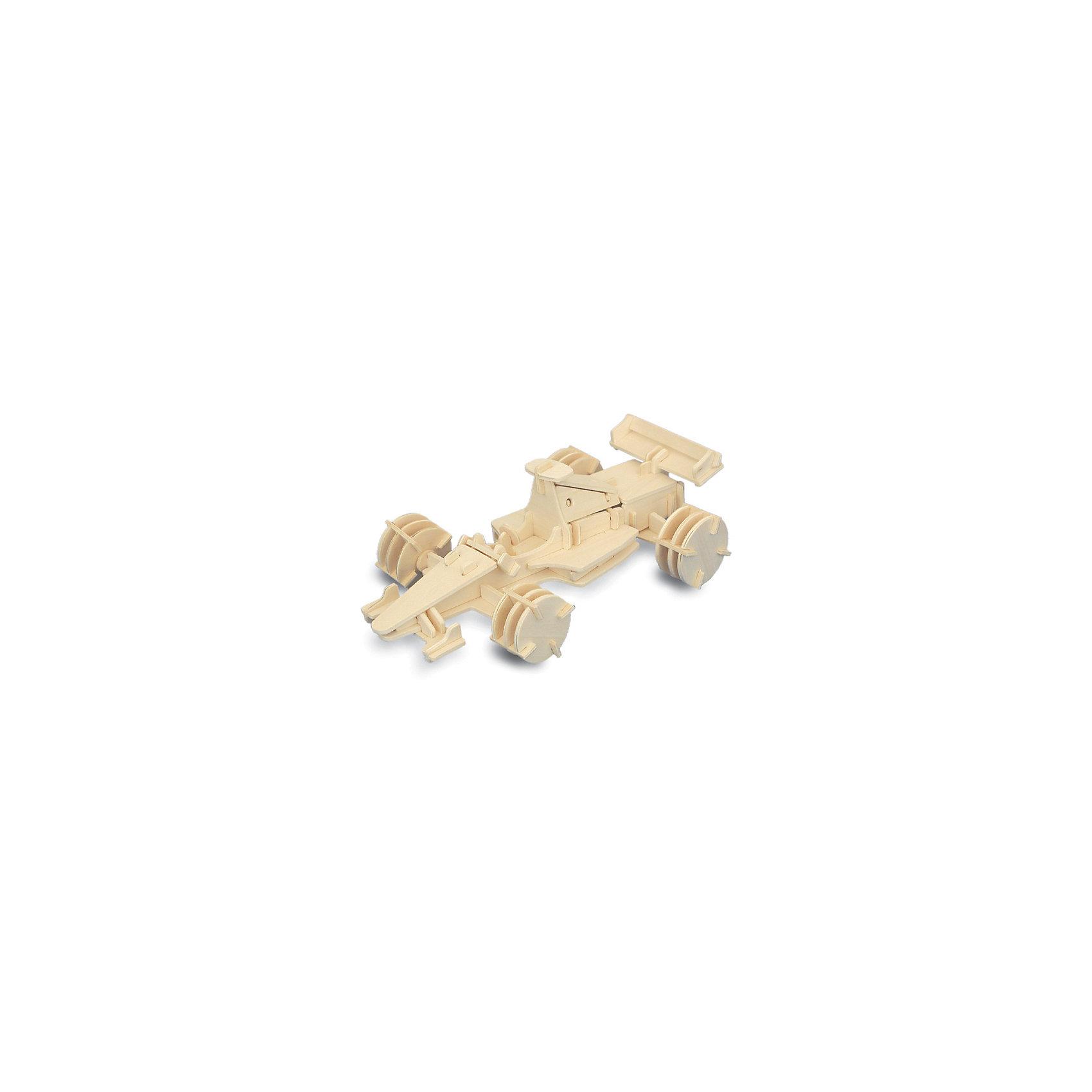 Формула 1 (мал.), Мир деревянных игрушекРукоделие<br>Порадовать любящего гонки творческого ребенка - легко! Подарите ему этот набор, из которого можно самому сделать красивую деревянную фигуру. Для этого нужно выдавить из пластины с деталями элементы для сборки и соединить их. Из наборов получаются красивые очень реалистичные игрушки, которые могут стать украшением комнаты.<br>Собирая их, ребенок будет развивать пространственное мышление, память и мелкую моторику. А раскрашивая готовое произведение, дети научатся подбирать цвета и будут развивать художественные навыки. Этот набор произведен из качественных и безопасных для детей материалов - дерево тщательно обработано.<br><br>Дополнительная информация:<br><br>материал: дерево;<br>цвет: бежевый;<br>элементы: пластины с деталями для сборки, схема сборки;<br>размер упаковки: 23 х 18 см.<br><br>3D-пазл Формула 1 (мал.) от бренда Мир деревянных игрушек можно купить в нашем магазине.<br><br>Ширина мм: 225<br>Глубина мм: 30<br>Высота мм: 180<br>Вес г: 450<br>Возраст от месяцев: 36<br>Возраст до месяцев: 144<br>Пол: Мужской<br>Возраст: Детский<br>SKU: 4969173