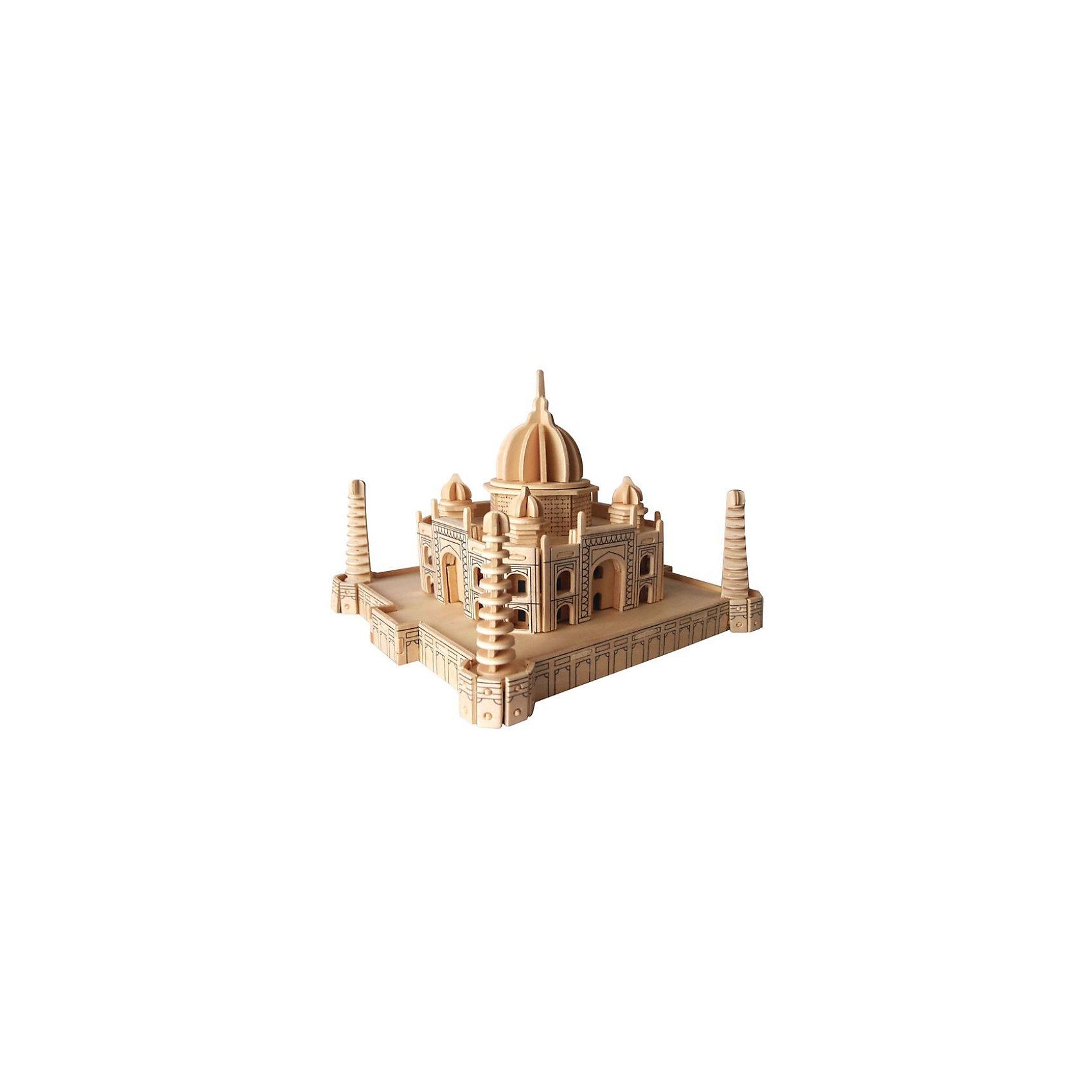 Тадж Махал, Мир деревянных игрушекДеревянные конструкторы<br>Интересный вариант подарка для любящего архитектуру творческого ребенка - этот набор, из которого можно самому сделать красивую деревянную фигуру! Для этого нужно выдавить из пластины с деталями элементы для сборки и соединить их. Из наборов получаются красивые очень реалистичные игрушки, которые могут стать украшением комнаты.<br>Собирая их, ребенок будет развивать пространственное мышление, память и мелкую моторику. А раскрашивая готовое произведение, дети научатся подбирать цвета и будут развивать художественные навыки. Этот набор произведен из качественных и безопасных для детей материалов - дерево тщательно обработано.<br><br>Дополнительная информация:<br><br>материал: дерево;<br>цвет: бежевый;<br>элементы: пластины с деталями для сборки, схема сборки;<br>размер упаковки: 23 х 37 см.<br><br>3D-пазл Тадж Махал от бренда Мир деревянных игрушек можно купить в нашем магазине.<br><br>Ширина мм: 350<br>Глубина мм: 50<br>Высота мм: 225<br>Вес г: 450<br>Возраст от месяцев: 36<br>Возраст до месяцев: 144<br>Пол: Унисекс<br>Возраст: Детский<br>SKU: 4969180