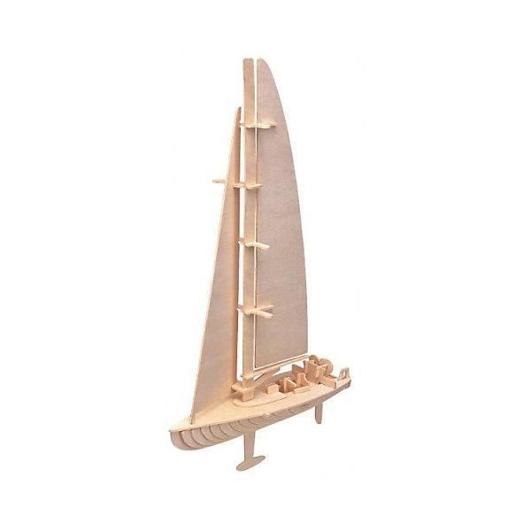 Яхта (серия П), Мир деревянных игрушекДеревянные модели<br>Отличный вариант подарка для любящего яхты творческого ребенка - этот набор, из которого можно самому сделать красивую деревянную фигуру! Для этого нужно выдавить из пластины с деталями элементы для сборки и соединить их. Из наборов получаются красивые очень реалистичные игрушки, которые могут стать украшением комнаты.<br>Собирая их, ребенок будет развивать пространственное мышление, память и мелкую моторику. А раскрашивая готовое произведение, дети научатся подбирать цвета и будут развивать художественные навыки. Этот набор произведен из качественных и безопасных для детей материалов - дерево тщательно обработано.<br><br>Дополнительная информация:<br><br>материал: дерево;<br>цвет: бежевый;<br>элементы: 53 шт, наждачная бумага;<br>размер упаковки: 23 х 37 см.<br><br>3D-пазл Яхта (серия П) от бренда Мир деревянных игрушек можно купить в нашем магазине.<br><br>Ширина мм: 350<br>Глубина мм: 50<br>Высота мм: 225<br>Вес г: 450<br>Возраст от месяцев: 36<br>Возраст до месяцев: 144<br>Пол: Унисекс<br>Возраст: Детский<br>SKU: 4969182