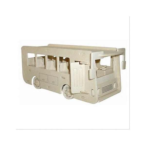 Автобус, Мир деревянных игрушекДеревянные модели<br>Порадовать любящего технику творческого ребенка - легко! Подарите ему этот набор, из которого можно самому сделать красивую деревянную фигуру. Для этого нужно выдавить из пластины с деталями элементы для сборки и соединить их. Из наборов получаются красивые очень реалистичные игрушки, которые могут стать украшением комнаты.<br>Собирая их, ребенок будет развивать пространственное мышление, память и мелкую моторику. А раскрашивая готовое произведение, дети научатся подбирать цвета и будут развивать художественные навыки. Этот набор произведен из качественных и безопасных для детей материалов - дерево тщательно обработано.<br><br>Дополнительная информация:<br><br>материал: дерево;<br>цвет: бежевый;<br>элементы: пластины с деталями для сборки, схема сборки;<br>размер упаковки: 23 х 37 см.<br><br>3D-пазл Автобус от бренда Мир деревянных игрушек можно купить в нашем магазине.<br>Ширина мм: 225; Глубина мм: 30; Высота мм: 180; Вес г: 450; Возраст от месяцев: 36; Возраст до месяцев: 144; Пол: Унисекс; Возраст: Детский; SKU: 4969185;