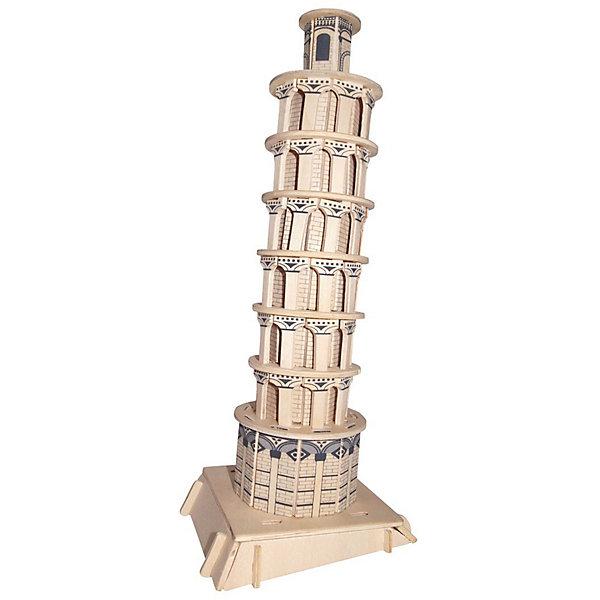 Пизанская башня, Мир деревянных игрушекДеревянные модели<br>Ваш ребенок любит конструкторы или архитектуру? Отличный вариант подарка для него-  этот набор, из которого можно самому сделать красивую деревянную фигуру! Для этого нужно выдавить из пластины с деталями элементы для сборки и соединить их. Из наборов получаются красивые очень реалистичные игрушки, которые могут стать украшением комнаты.<br>Собирая их, ребенок будет развивать пространственное мышление, память и мелкую моторику. А раскрашивая готовое произведение, дети научатся подбирать цвета и будут развивать художественные навыки. Этот набор произведен из качественных и безопасных для детей материалов - дерево тщательно обработано.<br><br>Дополнительная информация:<br><br>материал: дерево;<br>цвет: бежевый;<br>элементы: пластины с деталями для сборки, схема сборки;<br>размер упаковки: 23 х 37 см.<br><br>3D-пазл Пизанская башня от бренда Мир деревянных игрушек можно купить в нашем магазине.<br><br>Ширина мм: 350<br>Глубина мм: 50<br>Высота мм: 225<br>Вес г: 450<br>Возраст от месяцев: 36<br>Возраст до месяцев: 144<br>Пол: Унисекс<br>Возраст: Детский<br>SKU: 4969186