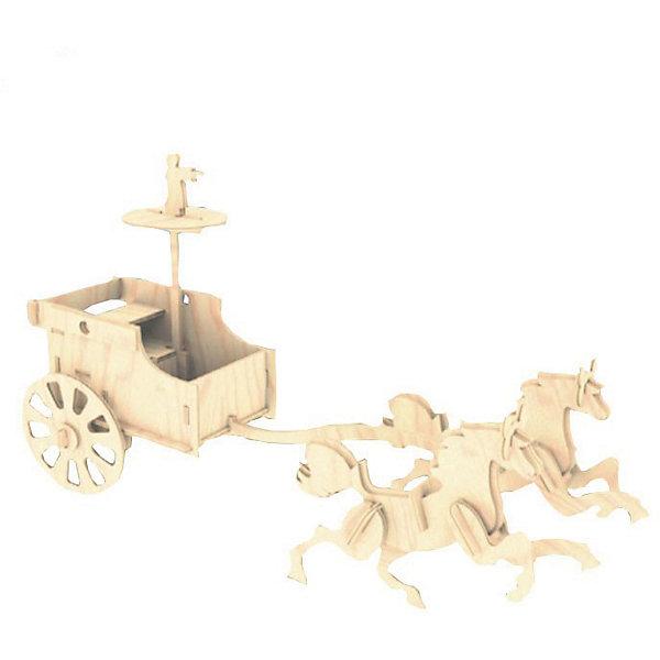 Боевая колесница, Мир деревянных игрушекДеревянные модели<br>Отличный вариант подарка для любящего историю творческого ребенка - этот набор, из которого можно самому сделать красивую деревянную фигуру! Для этого нужно выдавить из пластины с деталями элементы для сборки и соединить их. Из наборов получаются красивые очень реалистичные игрушки, которые могут стать украшением комнаты.<br>Собирая их, ребенок будет развивать пространственное мышление, память и мелкую моторику. А раскрашивая готовое произведение, дети научатся подбирать цвета и будут развивать художественные навыки. Этот набор произведен из качественных и безопасных для детей материалов - дерево тщательно обработано.<br><br>Дополнительная информация:<br><br>материал: дерево;<br>цвет: бежевый;<br>элементы: пластины с деталями для сборки, схема сборки;<br>размер упаковки: 23 х 37 см.<br><br>3D-пазл Боевая колесница от бренда Мир деревянных игрушек можно купить в нашем магазине.<br>Ширина мм: 350; Глубина мм: 50; Высота мм: 225; Вес г: 450; Возраст от месяцев: 36; Возраст до месяцев: 144; Пол: Унисекс; Возраст: Детский; SKU: 4969187;