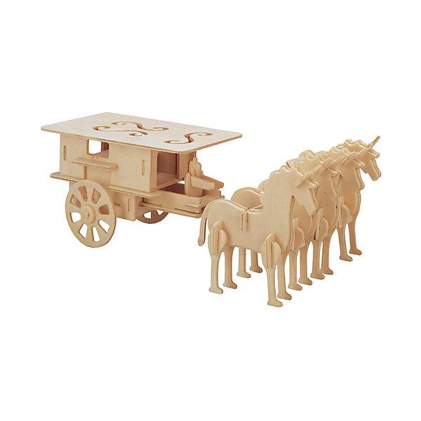 Закрытая колесница, Мир деревянных игрушекДеревянные модели<br>Отличный вариант подарка для любящего историю творческого ребенка - этот набор, из которого можно самому сделать красивую деревянную фигуру! Для этого нужно выдавить из пластины с деталями элементы для сборки и соединить их. Из наборов получаются красивые очень реалистичные игрушки, которые могут стать украшением комнаты.<br>Собирая их, ребенок будет развивать пространственное мышление, память и мелкую моторику. А раскрашивая готовое произведение, дети научатся подбирать цвета и будут развивать художественные навыки. Этот набор произведен из качественных и безопасных для детей материалов - дерево тщательно обработано.<br><br>Дополнительная информация:<br><br>материал: дерево;<br>цвет: бежевый;<br>элементы: пластины с деталями для сборки, схема сборки;<br>размер упаковки: 23 х 37 см.<br><br>3D-пазл Закрытая колесница от бренда Мир деревянных игрушек можно купить в нашем магазине.<br>Ширина мм: 350; Глубина мм: 50; Высота мм: 225; Вес г: 450; Возраст от месяцев: 36; Возраст до месяцев: 144; Пол: Унисекс; Возраст: Детский; SKU: 4969189;