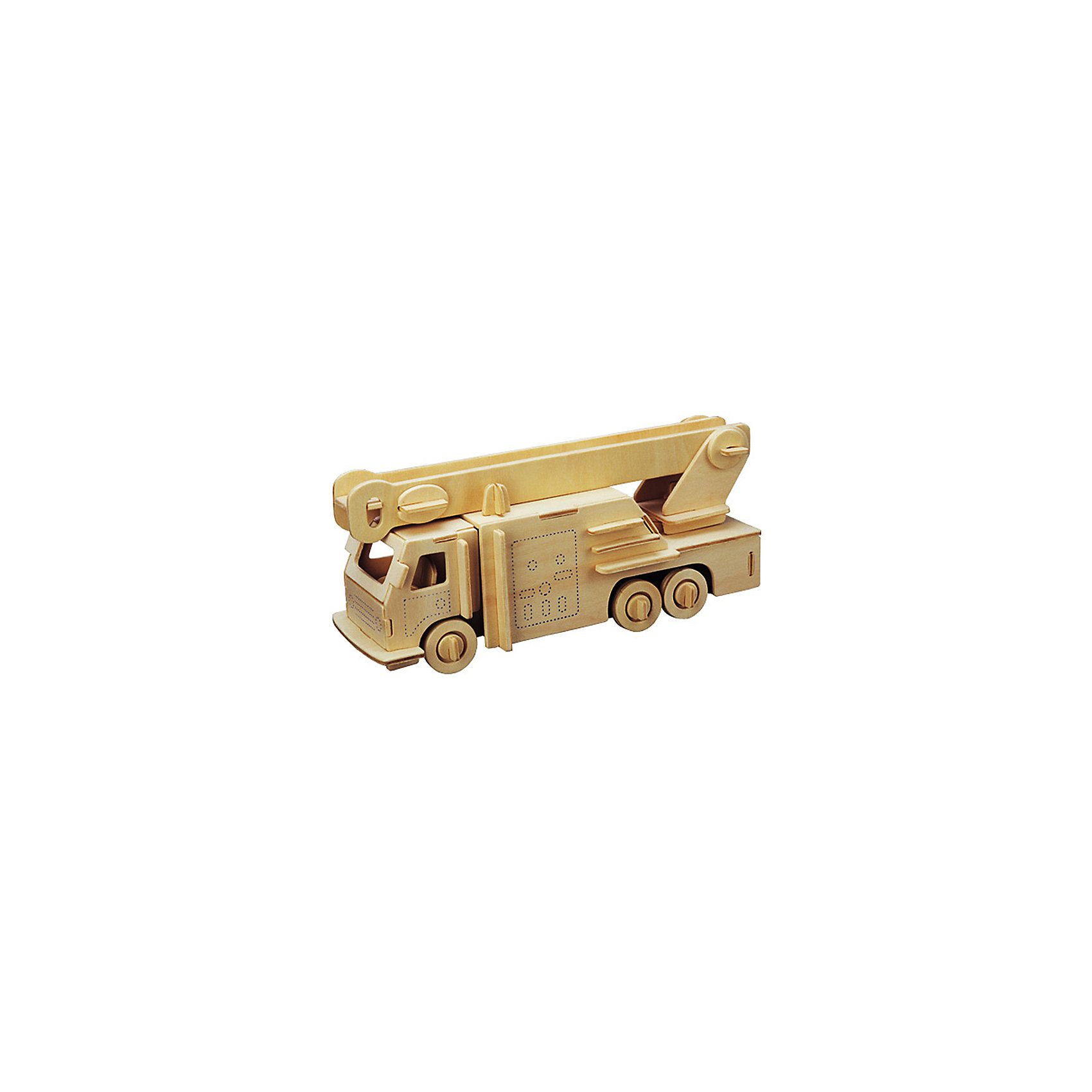 Пожарная машина, Мир деревянных игрушекДеревянные конструкторы<br>Порадовать любящего технику творческого ребенка - легко! Подарите ему этот набор, из которого можно самому сделать красивую деревянную фигуру. Для этого нужно выдавить из пластины с деталями элементы для сборки и соединить их. Из наборов получаются красивые очень реалистичные игрушки, которые могут стать украшением комнаты.<br>Собирая их, ребенок будет развивать пространственное мышление, память и мелкую моторику. А раскрашивая готовое произведение, дети научатся подбирать цвета и будут развивать художественные навыки. Этот набор произведен из качественных и безопасных для детей материалов - дерево тщательно обработано.<br><br>Дополнительная информация:<br><br>материал: дерево;<br>цвет: бежевый;<br>элементы: пластины с деталями для сборки, схема сборки;<br>размер упаковки: 23 х 37 см.<br><br>3D-пазл Пожарная машина от бренда Мир деревянных игрушек можно купить в нашем магазине.<br><br>Ширина мм: 350<br>Глубина мм: 50<br>Высота мм: 225<br>Вес г: 350<br>Возраст от месяцев: 36<br>Возраст до месяцев: 144<br>Пол: Мужской<br>Возраст: Детский<br>SKU: 4969194