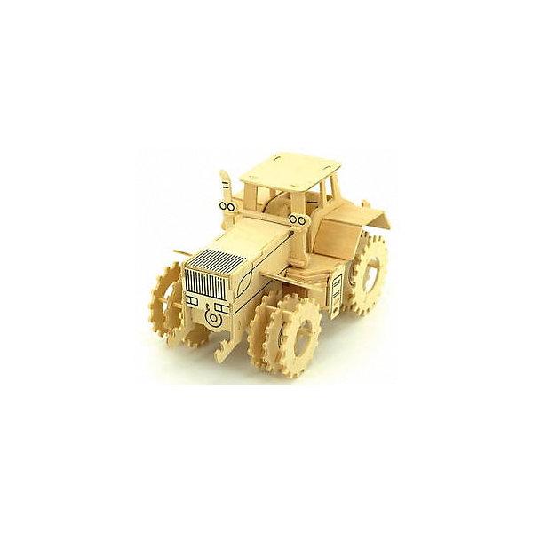 Трактор К-700, Мир деревянных игрушекДеревянные модели<br>Отличный вариант подарка для любящего технику творческого ребенка - этот набор, из которого можно самому сделать красивую деревянную фигуру! Для этого нужно выдавить из пластины с деталями элементы для сборки и соединить их. Из наборов получаются красивые очень реалистичные игрушки, которые могут стать украшением комнаты.<br>Собирая их, ребенок будет развивать пространственное мышление, память и мелкую моторику. А раскрашивая готовое произведение, дети научатся подбирать цвета и будут развивать художественные навыки. Этот набор произведен из качественных и безопасных для детей материалов - дерево тщательно обработано.<br><br>Дополнительная информация:<br><br>материал: дерево;<br>цвет: бежевый;<br>элементы: пластины с деталями для сборки, схема сборки;<br>размер упаковки: 23 х 37 см.<br><br>3D-пазл Трактор К-700 от бренда Мир деревянных игрушек можно купить в нашем магазине.<br><br>Ширина мм: 350<br>Глубина мм: 50<br>Высота мм: 225<br>Вес г: 450<br>Возраст от месяцев: 36<br>Возраст до месяцев: 144<br>Пол: Мужской<br>Возраст: Детский<br>SKU: 4969197
