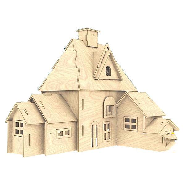 Дача, Мир деревянных игрушекДеревянные модели<br>Отличный вариант подарка для творческого ребенка - этот набор, из которого можно самому сделать красивую деревянную фигуру! Для этого нужно выдавить из пластины с деталями элементы для сборки и соединить их. Из наборов получаются красивые очень реалистичные игрушки, которые могут стать украшением комнаты.<br>Собирая их, ребенок будет развивать пространственное мышление, память и мелкую моторику. А раскрашивая готовое произведение, дети научатся подбирать цвета и будут развивать художественные навыки. Этот набор произведен из качественных и безопасных для детей материалов - дерево тщательно обработано.<br><br>Дополнительная информация:<br><br>материал: дерево;<br>цвет: бежевый;<br>элементы: пластины с деталями для сборки, схема сборки;<br>размер упаковки: 23 х 37 см.<br><br>3D-пазл Дача от бренда Мир деревянных игрушек можно купить в нашем магазине.<br><br>Ширина мм: 350<br>Глубина мм: 50<br>Высота мм: 225<br>Вес г: 450<br>Возраст от месяцев: 36<br>Возраст до месяцев: 144<br>Пол: Унисекс<br>Возраст: Детский<br>SKU: 4969202
