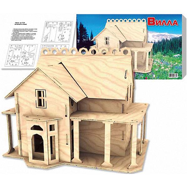 Вилла, Мир деревянных игрушекДеревянные модели<br>Порадовать творческого ребенка - легко! Закажите для него этот набор, из которого можно самому сделать красивую деревянную фигуру! Для этого нужно выдавить из пластины с деталями элементы для сборки и соединить их. Из наборов получаются красивые очень реалистичные игрушки, которые могут стать украшением комнаты.<br>Собирая их, ребенок будет развивать пространственное мышление, память и мелкую моторику. А раскрашивая готовое произведение, дети научатся подбирать цвета и будут развивать художественные навыки. Этот набор произведен из качественных и безопасных для детей материалов - дерево тщательно обработано.<br><br>Дополнительная информация:<br><br>материал: дерево;<br>цвет: бежевый;<br>элементы: пластины с деталями для сборки, схема сборки;<br>размер упаковки: 23 х 37 см.<br><br>3D-пазл Вилла от бренда Мир деревянных игрушек можно купить в нашем магазине.<br><br>Ширина мм: 350<br>Глубина мм: 50<br>Высота мм: 225<br>Вес г: 450<br>Возраст от месяцев: 36<br>Возраст до месяцев: 144<br>Пол: Унисекс<br>Возраст: Детский<br>SKU: 4969205