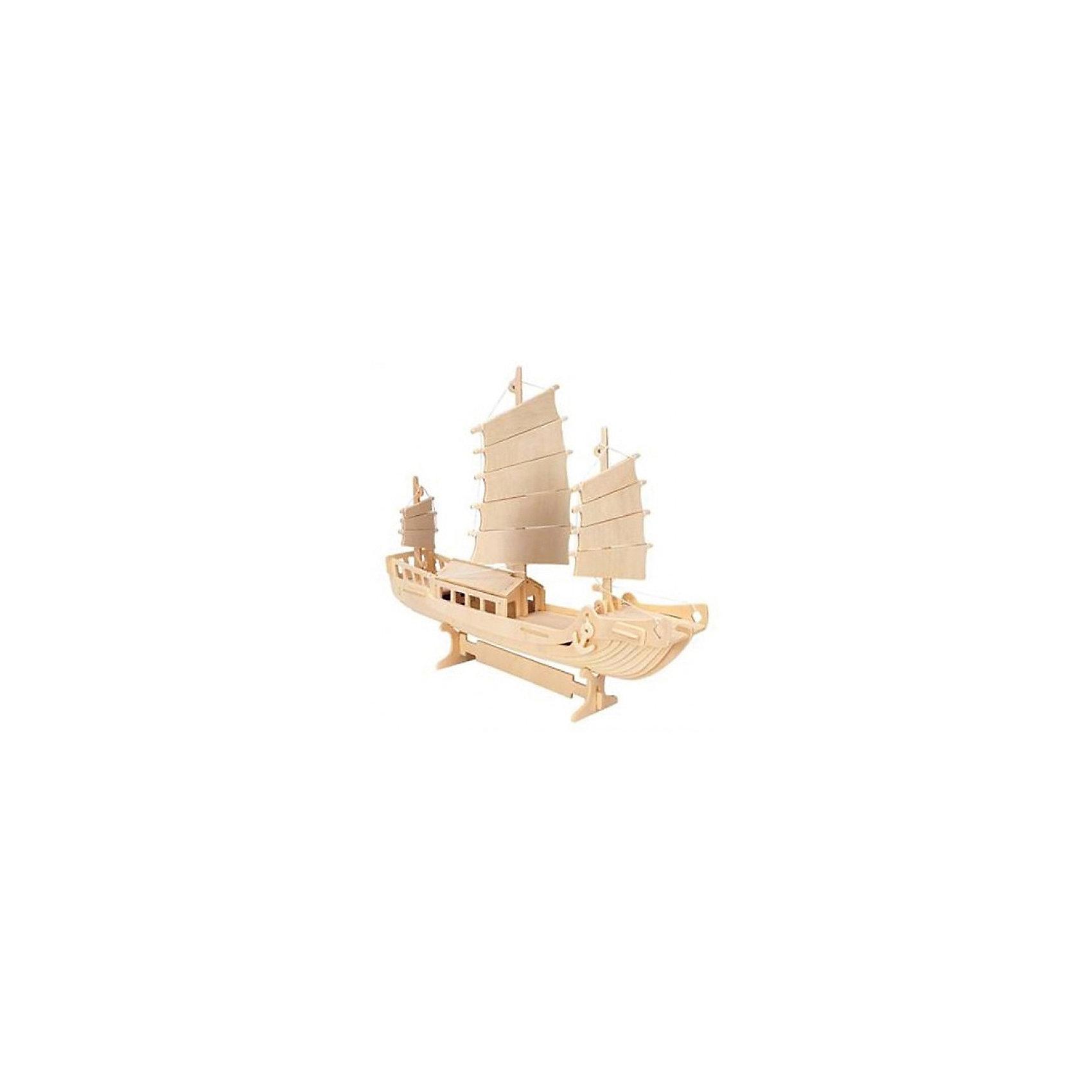 Корабль-охранник, Мир деревянных игрушекРукоделие<br>Удачный вариант подарка для любящего морские суда творческого ребенка - этот набор, из которого можно самому сделать красивую деревянную фигуру! Для этого нужно выдавить из пластины с деталями элементы для сборки и соединить их. Из наборов получаются красивые очень реалистичные игрушки, которые могут стать украшением комнаты.<br>Собирая их, ребенок будет развивать пространственное мышление, память и мелкую моторику. А раскрашивая готовое произведение, дети научатся подбирать цвета и будут развивать художественные навыки. Этот набор произведен из качественных и безопасных для детей материалов - дерево тщательно обработано.<br><br>Дополнительная информация:<br><br>материал: дерево;<br>цвет: бежевый;<br>элементы: пластины с деталями для сборки, схема сборки;<br>размер упаковки: 23 х 37 см.<br><br>3D-пазл Корабль-охранник от бренда Мир деревянных игрушек можно купить в нашем магазине.<br><br>Ширина мм: 350<br>Глубина мм: 50<br>Высота мм: 225<br>Вес г: 450<br>Возраст от месяцев: 36<br>Возраст до месяцев: 144<br>Пол: Унисекс<br>Возраст: Детский<br>SKU: 4969209