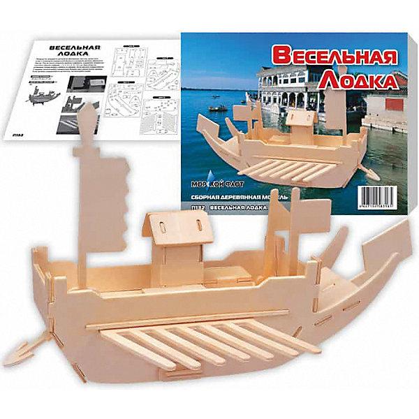 Весельная лодка, Мир деревянных игрушекДеревянные модели<br>Отличный вариант подарка для любящего технику творческого ребенка - этот набор, из которого можно самому сделать красивую деревянную фигуру! Для этого нужно выдавить из пластины с деталями элементы для сборки и соединить их. Из наборов получаются красивые очень реалистичные игрушки, которые могут стать украшением комнаты.<br>Собирая их, ребенок будет развивать пространственное мышление, память и мелкую моторику. А раскрашивая готовое произведение, дети научатся подбирать цвета и будут развивать художественные навыки. Этот набор произведен из качественных и безопасных для детей материалов - дерево тщательно обработано.<br><br>Дополнительная информация:<br><br>материал: дерево;<br>цвет: бежевый;<br>элементы: пластины с деталями для сборки, схема сборки;<br>размер упаковки: 23 х 18 см.<br><br>3D-пазл Весельная лодка от бренда Мир деревянных игрушек можно купить в нашем магазине.<br>Ширина мм: 225; Глубина мм: 30; Высота мм: 180; Вес г: 450; Возраст от месяцев: 36; Возраст до месяцев: 144; Пол: Унисекс; Возраст: Детский; SKU: 4969215;