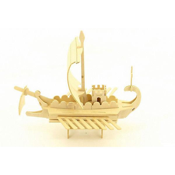Римский военный корабль, Мир деревянных игрушекДеревянные модели<br>Удачный вариант подарка для любящего корабли творческого ребенка - этот набор, из которого можно самому сделать красивую деревянную фигуру! Для этого нужно выдавить из пластины с деталями элементы для сборки и соединить их. Из наборов получаются красивые очень реалистичные игрушки, которые могут стать украшением комнаты.<br>Собирая их, ребенок будет развивать пространственное мышление, память и мелкую моторику. А раскрашивая готовое произведение, дети научатся подбирать цвета и будут развивать художественные навыки. Этот набор произведен из качественных и безопасных для детей материалов - дерево тщательно обработано.<br><br>Дополнительная информация:<br><br>материал: дерево;<br>цвет: бежевый;<br>элементы: пластины с деталями для сборки, схема сборки;<br>размер упаковки: 23 х 18 см.<br><br>3D-пазл Римский военный корабль от бренда Мир деревянных игрушек можно купить в нашем магазине.<br><br>Ширина мм: 350<br>Глубина мм: 50<br>Высота мм: 225<br>Вес г: 450<br>Возраст от месяцев: 36<br>Возраст до месяцев: 144<br>Пол: Унисекс<br>Возраст: Детский<br>SKU: 4969216