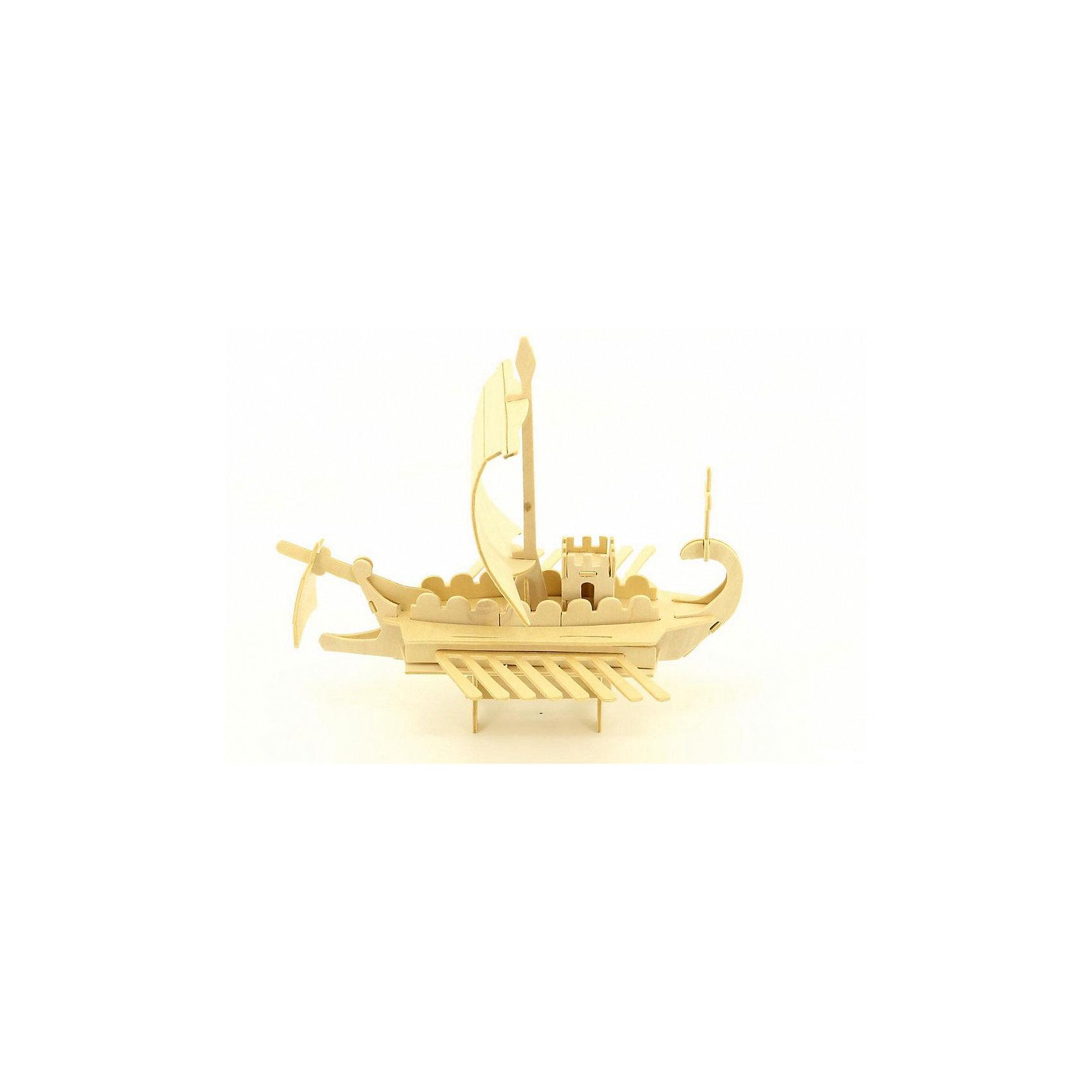 Римский военный корабль, Мир деревянных игрушекУдачный вариант подарка для любящего корабли творческого ребенка - этот набор, из которого можно самому сделать красивую деревянную фигуру! Для этого нужно выдавить из пластины с деталями элементы для сборки и соединить их. Из наборов получаются красивые очень реалистичные игрушки, которые могут стать украшением комнаты.<br>Собирая их, ребенок будет развивать пространственное мышление, память и мелкую моторику. А раскрашивая готовое произведение, дети научатся подбирать цвета и будут развивать художественные навыки. Этот набор произведен из качественных и безопасных для детей материалов - дерево тщательно обработано.<br><br>Дополнительная информация:<br><br>материал: дерево;<br>цвет: бежевый;<br>элементы: пластины с деталями для сборки, схема сборки;<br>размер упаковки: 23 х 18 см.<br><br>3D-пазл Римский военный корабль от бренда Мир деревянных игрушек можно купить в нашем магазине.<br><br>Ширина мм: 350<br>Глубина мм: 50<br>Высота мм: 225<br>Вес г: 450<br>Возраст от месяцев: 36<br>Возраст до месяцев: 144<br>Пол: Унисекс<br>Возраст: Детский<br>SKU: 4969216