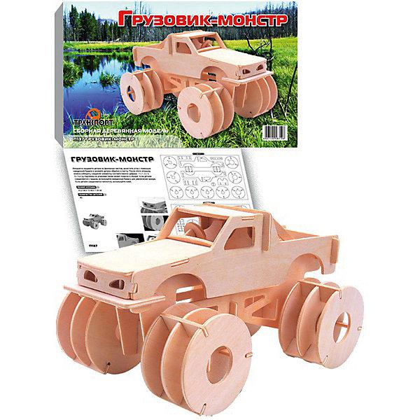 Грузовик-монстр, Мир деревянных игрушекДеревянные модели<br>Отличный вариант подарка для любящего технику творческого ребенка - этот набор, из которого можно самому сделать красивую деревянную фигуру! Для этого нужно выдавить из пластины с деталями элементы для сборки и соединить их. Из наборов получаются красивые очень реалистичные игрушки, которые могут стать украшением комнаты.<br>Собирая их, ребенок будет развивать пространственное мышление, память и мелкую моторику. А раскрашивая готовое произведение, дети научатся подбирать цвета и будут развивать художественные навыки. Этот набор произведен из качественных и безопасных для детей материалов - дерево тщательно обработано.<br><br>Дополнительная информация:<br><br>материал: дерево;<br>цвет: бежевый;<br>элементы: пластины с деталями для сборки, схема сборки;<br>размер упаковки: 23 х 37 см.<br><br>3D-пазл Грузовик-монстр от бренда Мир деревянных игрушек можно купить в нашем магазине.<br><br>Ширина мм: 350<br>Глубина мм: 50<br>Высота мм: 225<br>Вес г: 450<br>Возраст от месяцев: 36<br>Возраст до месяцев: 144<br>Пол: Мужской<br>Возраст: Детский<br>SKU: 4969220