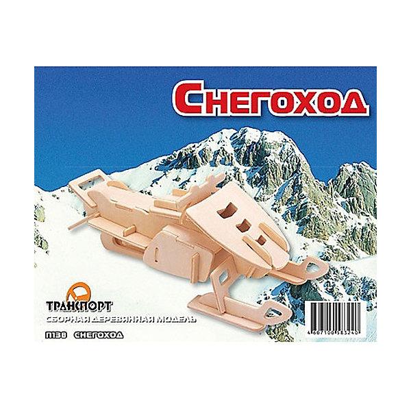 Снегоход, Мир деревянных игрушекДеревянные модели<br>Порадовать творческого ребенка и любителя техники - легко! Закажите для него этот набор, из которого можно самому сделать красивую деревянную фигуру! Для этого нужно выдавить из пластины с деталями элементы для сборки и соединить их. Из наборов получаются красивые очень реалистичные игрушки, которые могут стать украшением комнаты.<br>Собирая их, ребенок будет развивать пространственное мышление, память и мелкую моторику. А раскрашивая готовое произведение, дети научатся подбирать цвета и будут развивать художественные навыки. Этот набор произведен из качественных и безопасных для детей материалов - дерево тщательно обработано.<br><br>Дополнительная информация:<br><br>материал: дерево;<br>цвет: бежевый;<br>элементы: пластины с деталями для сборки, схема сборки;<br>размер упаковки: 23 х 18 см.<br><br>3D-пазл Снегоход от бренда Мир деревянных игрушек можно купить в нашем магазине.<br><br>Ширина мм: 225<br>Глубина мм: 30<br>Высота мм: 180<br>Вес г: 450<br>Возраст от месяцев: 36<br>Возраст до месяцев: 144<br>Пол: Мужской<br>Возраст: Детский<br>SKU: 4969221