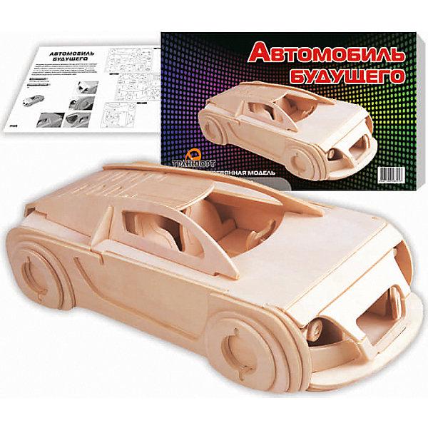 Автомобиль будущего, Мир деревянных игрушекДеревянные модели<br>Отличный вариант подарка для любящего технику творческого ребенка - этот набор, из которого можно самому сделать красивую деревянную фигуру! Для этого нужно выдавить из пластины с деталями элементы для сборки и соединить их. Из наборов получаются красивые очень реалистичные игрушки, которые могут стать украшением комнаты.<br>Собирая их, ребенок будет развивать пространственное мышление, память и мелкую моторику. А раскрашивая готовое произведение, дети научатся подбирать цвета и будут развивать художественные навыки. Этот набор произведен из качественных и безопасных для детей материалов - дерево тщательно обработано.<br><br>Дополнительная информация:<br><br>материал: дерево;<br>цвет: бежевый;<br>элементы: пластины с деталями для сборки, схема сборки;<br>размер упаковки: 23 х 37 см.<br><br>3D-пазл Автомобиль будущего от бренда Мир деревянных игрушек можно купить в нашем магазине.<br><br>Ширина мм: 350<br>Глубина мм: 50<br>Высота мм: 225<br>Вес г: 450<br>Возраст от месяцев: 36<br>Возраст до месяцев: 144<br>Пол: Мужской<br>Возраст: Детский<br>SKU: 4969222