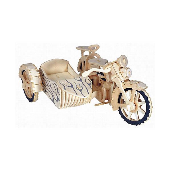 Мотоцикл с люлькой, Мир деревянных игрушекДеревянные модели<br>Отличный вариант подарка для любящего технику творческого ребенка - этот набор, из которого можно самому сделать красивую деревянную фигуру! Для этого нужно выдавить из пластины с деталями элементы для сборки и соединить их. Из наборов получаются красивые очень реалистичные игрушки, которые могут стать украшением комнаты.<br>Собирая их, ребенок будет развивать пространственное мышление, память и мелкую моторику. А раскрашивая готовое произведение, дети научатся подбирать цвета и будут развивать художественные навыки. Этот набор произведен из качественных и безопасных для детей материалов - дерево тщательно обработано.<br><br>Дополнительная информация:<br><br>материал: дерево;<br>цвет: бежевый;<br>элементы: пластины с деталями для сборки, схема сборки;<br>размер упаковки: 23 х 37 см.<br><br>3D-пазл Мотоцикл с люлькой от бренда Мир деревянных игрушек можно купить в нашем магазине.<br><br>Ширина мм: 350<br>Глубина мм: 50<br>Высота мм: 225<br>Вес г: 350<br>Возраст от месяцев: 36<br>Возраст до месяцев: 144<br>Пол: Унисекс<br>Возраст: Детский<br>SKU: 4969228