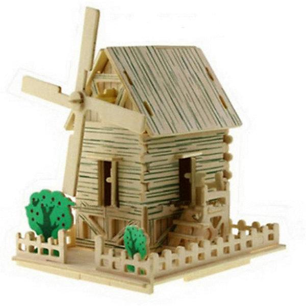 Ветряная мельница малая, Мир деревянных игрушекДеревянные модели<br>Порадовать творческого ребенка - легко! Закажите для него этот набор, из которого можно самому сделать красивую деревянную фигуру! Для этого нужно выдавить из пластины с деталями элементы для сборки и соединить их. Из наборов получаются красивые очень реалистичные игрушки, которые могут стать украшением комнаты.<br>Собирая их, ребенок будет развивать пространственное мышление, память и мелкую моторику. А раскрашивая готовое произведение, дети научатся подбирать цвета и будут развивать художественные навыки. Этот набор произведен из качественных и безопасных для детей материалов - дерево тщательно обработано.<br><br>Дополнительная информация:<br><br>материал: дерево;<br>цвет: бежевый;<br>элементы: пластины с деталями для сборки, схема сборки;<br>размер упаковки: 12 х 19 см.<br><br>3D-пазл Ветряная мельница малая от бренда Мир деревянных игрушек можно купить в нашем магазине.<br><br>Ширина мм: 350<br>Глубина мм: 50<br>Высота мм: 225<br>Вес г: 450<br>Возраст от месяцев: 36<br>Возраст до месяцев: 144<br>Пол: Унисекс<br>Возраст: Детский<br>SKU: 4969235