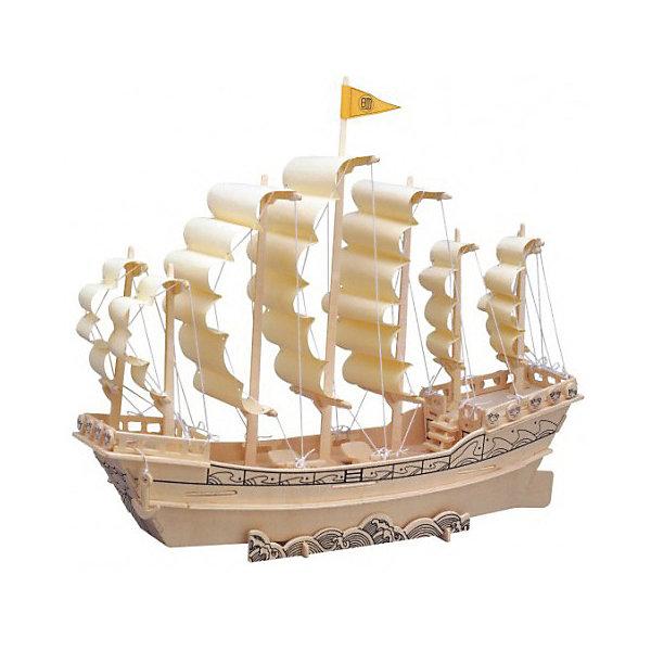 Парусник Династии Мин, Мир деревянных игрушекДеревянные модели<br>Отличный вариант подарка для любящего историю и морские суда творческого ребенка - этот набор, из которого можно самому сделать красивую деревянную фигуру! Для этого нужно выдавить из пластины с деталями элементы для сборки и соединить их. Из наборов получаются красивые очень реалистичные игрушки, которые могут стать украшением комнаты.<br>Собирая их, ребенок будет развивать пространственное мышление, память и мелкую моторику. А раскрашивая готовое произведение, дети научатся подбирать цвета и будут развивать художественные навыки. Этот набор произведен из качественных и безопасных для детей материалов - дерево тщательно обработано.<br><br>Дополнительная информация:<br><br>материал: дерево;<br>цвет: бежевый;<br>элементы: 91 шт, схема сборки;<br>размер упаковки: 23 х 37 см.<br><br>3D-пазл Парусник Династии Мин от бренда Мир деревянных игрушек можно купить в нашем магазине.<br><br>Ширина мм: 350<br>Глубина мм: 50<br>Высота мм: 225<br>Вес г: 350<br>Возраст от месяцев: 36<br>Возраст до месяцев: 144<br>Пол: Унисекс<br>Возраст: Детский<br>SKU: 4969238