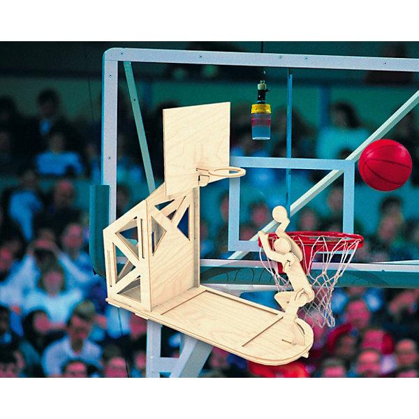 Баскетболист, Мир деревянных игрушекДеревянные модели<br>Отличный вариант подарка для любящего спорт творческого ребенка - этот набор, из которого можно самому сделать красивую деревянную фигуру! Для этого нужно выдавить из пластины с деталями элементы для сборки и соединить их. Из наборов получаются красивые очень реалистичные игрушки, которые могут стать украшением комнаты.<br>Собирая их, ребенок будет развивать пространственное мышление, память и мелкую моторику. А раскрашивая готовое произведение, дети научатся подбирать цвета и будут развивать художественные навыки. Этот набор произведен из качественных и безопасных для детей материалов - дерево тщательно обработано.<br><br>Дополнительная информация:<br><br>материал: дерево;<br>цвет: бежевый;<br>элементы: пластины с деталями, схема сборки;<br>размер упаковки: 23 х 18 см.<br><br>3D-пазл Баскетболист от бренда Мир деревянных игрушек можно купить в нашем магазине.<br><br>Ширина мм: 225<br>Глубина мм: 30<br>Высота мм: 180<br>Вес г: 450<br>Возраст от месяцев: 36<br>Возраст до месяцев: 144<br>Пол: Мужской<br>Возраст: Детский<br>SKU: 4969243