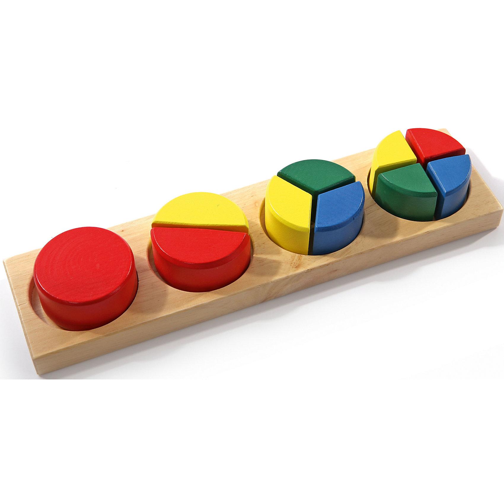 Дроби малые 1 (круг), Мир деревянных игрушекДеревянные игры и пазлы<br>Изучать дроби можно, играя! Специально для самых маленьких разработаны сортеры, сделанные из приятного на ощупь дерева, тщательно обработанного и окрашенного. Вставляя части фигур в рамки, малыш будет запоминать действия с дробями, учиться соотносить фигуры, распознавать цвета, развивать пространственное мышление, память и мелкую моторику. Этот пазл произведен из качественных и безопасных для детей материалов.<br><br>Дополнительная информация:<br><br>цвет: разноцветный;<br>материал: дерево;<br>размер: 25 х 8 х 5 см.<br><br>Пазл Дроби малые 1 (круг) от бренда Мир деревянных игрушек можно купить в нашем магазине.<br><br>Ширина мм: 250<br>Глубина мм: 70<br>Высота мм: 35<br>Вес г: 500<br>Возраст от месяцев: 36<br>Возраст до месяцев: 144<br>Пол: Унисекс<br>Возраст: Детский<br>SKU: 4969262