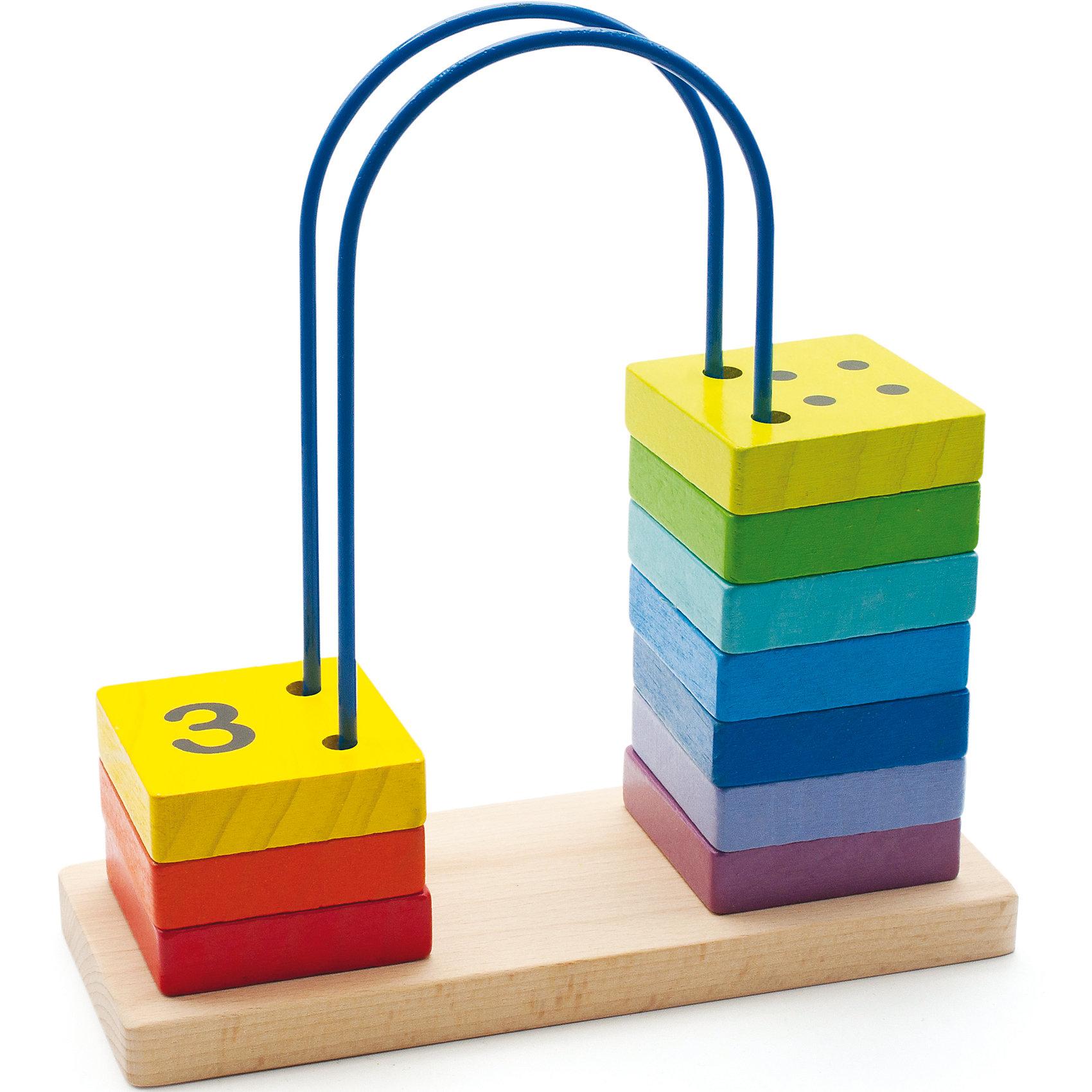 Счеты большие, Мир деревянных игрушекОбучающие книги<br>Запоминать цифры можно, играя! Специально для самых маленьких разработаны яркие счеты, сделанные из приятного на ощупь дерева, тщательно обработанного и окрашенного. Перекидывая квадратики с цифрами, малыш будет запоминать их, учиться распознавать цвета, развивать пространственное мышление, память и мелкую моторику. Эти счеты произведены из качественных и безопасных для детей материалов.<br><br>Дополнительная информация:<br><br>цвет: разноцветный;<br>материал: дерево;<br>размер: 22 х 10 х 23 см.<br><br>Счеты большие от бренда Мир деревянных игрушек можно купить в нашем магазине.<br><br>Ширина мм: 220<br>Глубина мм: 100<br>Высота мм: 230<br>Вес г: 800<br>Возраст от месяцев: 36<br>Возраст до месяцев: 84<br>Пол: Унисекс<br>Возраст: Детский<br>SKU: 4969274