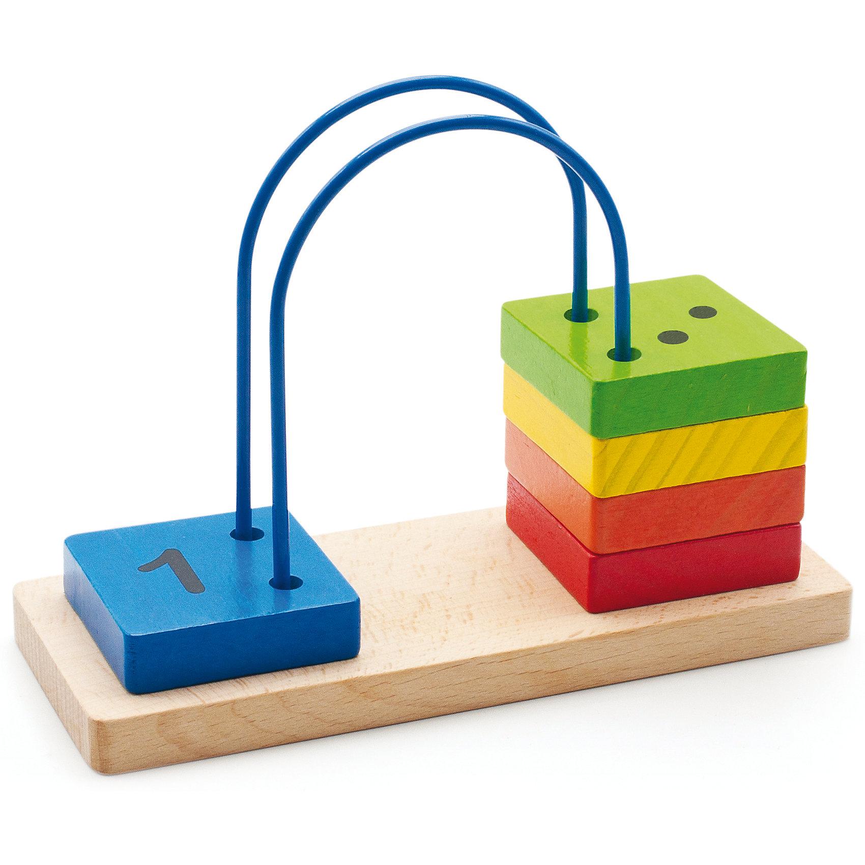 Счеты перекидные малые, Мир деревянных игрушекЗапоминать цифры можно, играя! Специально для самых маленьких разработаны яркие счеты, сделанные из приятного на ощупь дерева, тщательно обработанного и окрашенного. Перекидывая квадратики с цифрами от 1 до 5, малыш будет запоминать их, учиться распознавать цвета, развивать пространственное мышление, память и мелкую моторику. Эти счеты произведены из качественных и безопасных для детей материалов.<br><br>Дополнительная информация:<br><br>цвет: разноцветный;<br>материал: дерево;<br>размер: 22 х 9 х 16 см.<br><br>Счеты перекидные малые от бренда Мир деревянных игрушек можно купить в нашем магазине.<br><br>Ширина мм: 215<br>Глубина мм: 85<br>Высота мм: 155<br>Вес г: 800<br>Возраст от месяцев: 36<br>Возраст до месяцев: 84<br>Пол: Унисекс<br>Возраст: Детский<br>SKU: 4969275
