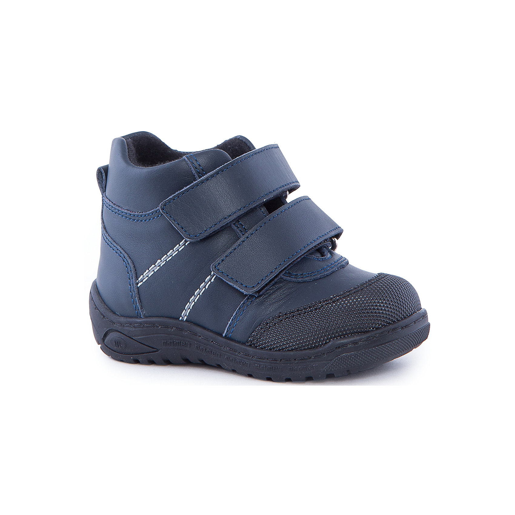 Ботинки для мальчика MinimenОбувь для малышей<br>Ботиночки от Minimen очень удобны и прекрасно фиксируют ногу. Кроме того, они обладают ортопедическими свойствами, что поможет стопе ребенка развиваться правильно. Ботинки застегиваются на липучки и легко одеваются. Подойдут для осени и теплой зимы.<br><br>Дополнительная информация:<br>Стелька: супинатор<br>Сезон: осень-зима<br>Материал: 100% кожа, текстиль<br><br>Ботинки Minimen вы можете приобрести в нашем интернет-магазине.<br><br>Ширина мм: 262<br>Глубина мм: 176<br>Высота мм: 97<br>Вес г: 427<br>Цвет: синий<br>Возраст от месяцев: 9<br>Возраст до месяцев: 12<br>Пол: Мужской<br>Возраст: Детский<br>Размер: 20,24,21,22,23<br>SKU: 4969756