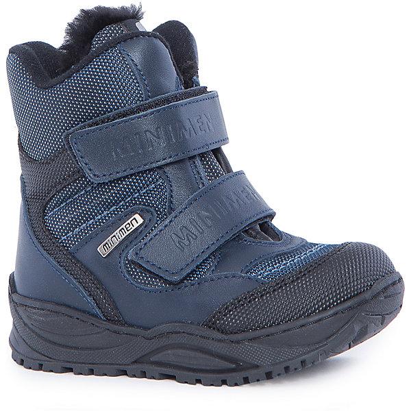 Ботинки для мальчика MinimenБотинки<br>Ботинки от Minimen отлично подойдут в холодную осень и теплую зиму. Они очень удобны и плотно фиксируют ногу, благодаря высокому заднику и надежным липучкам-застежкам. А подкладка из натурального меха не даст ребенку замерзнуть во время прогулок!<br><br>Дополнительная информация:<br>Стелька: супинатор<br>Цвет: синий<br>Сезон: осень-зима<br>Материал: 100% кожа. Подкладка: 100% мех<br><br>Ботинки Minimen вы можете приобрести в нашем интернет-магазине.<br>Ширина мм: 257; Глубина мм: 180; Высота мм: 130; Вес г: 420; Цвет: синий; Возраст от месяцев: 21; Возраст до месяцев: 24; Пол: Мужской; Возраст: Детский; Размер: 24,22,21,23,25; SKU: 4969775;