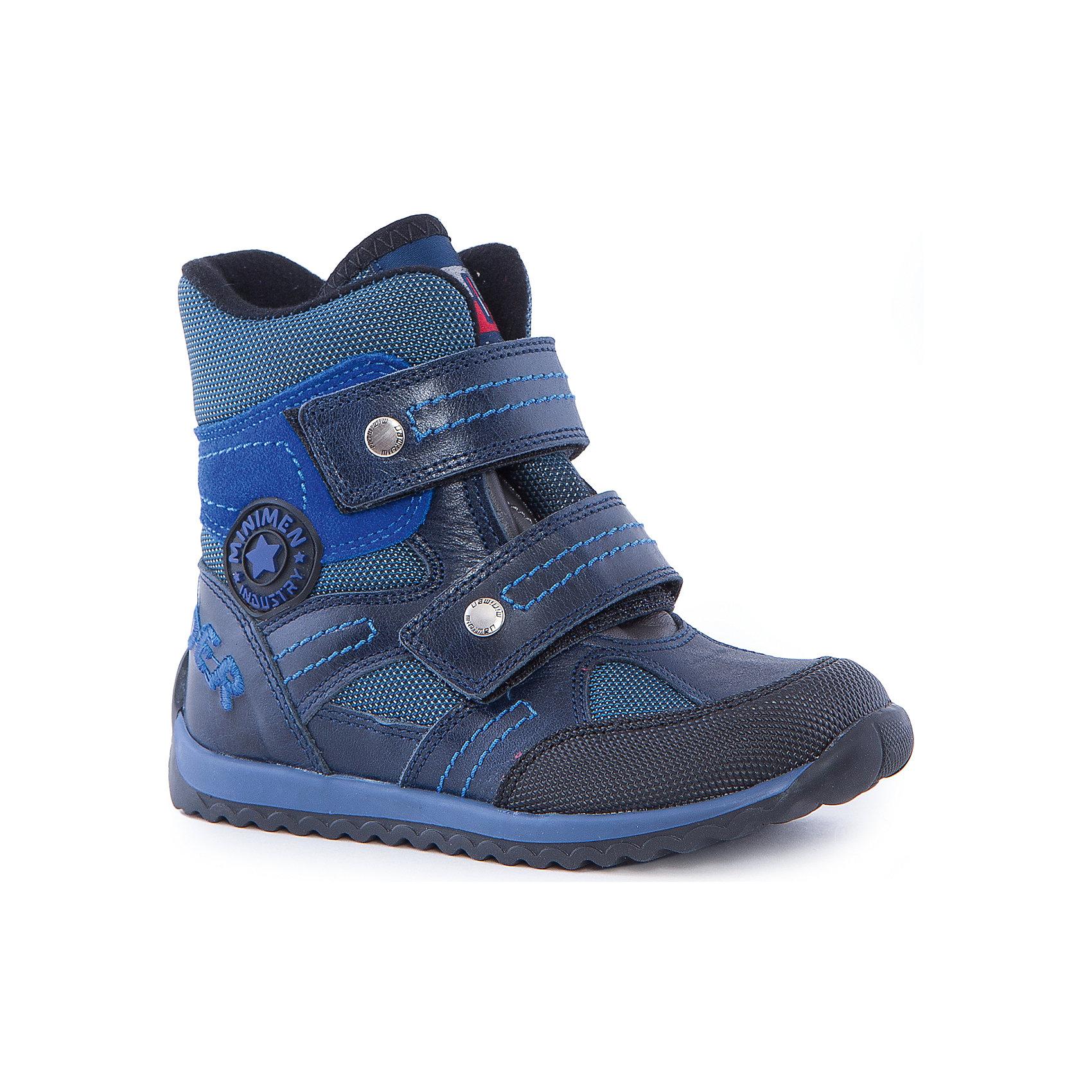 Полусапоги для мальчика MinimenПолусапоги от Minimen изготовлены из натуральной кожи. Они хорошо фиксируют ногу, имеют удобные липучки-застежки. Рельефная подошва обеспечит дополнительную устойчивость. Подходят для осени-теплой зимы.<br><br>Дополнительная информация:<br>Стелька: супинатор<br>Цвет: синий<br>Сезон: осень-зима<br>Материал: 100% кожа. Подкладка: текстиль<br><br>Полусапоги Minimen можно купить в нашем интернет-магазине.<br><br>Ширина мм: 257<br>Глубина мм: 180<br>Высота мм: 130<br>Вес г: 420<br>Цвет: синий<br>Возраст от месяцев: 24<br>Возраст до месяцев: 24<br>Пол: Мужской<br>Возраст: Детский<br>Размер: 25,30,26,27,28,29<br>SKU: 4969807