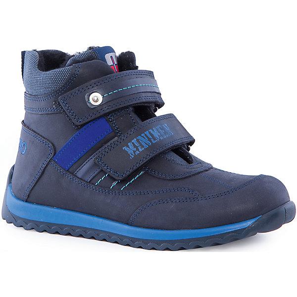 Ботинки для мальчика MinimenБотинки<br>Утепленные полуботинки от известного производителя Minimen обеспечат вашему ребенку комфорт и удобство во время прогулок. Ботинки с ортопедической стелькой, рельефной подошвой и стильным дизайном по достоинству оценят любители качественной обуви.<br><br>Дополнительная информация:<br>Стелька: супинатор<br>Цвет: синий<br>Сезон: осень-зима<br>Материал: 100% кожа. Подкладка: 100% шерсть<br><br>Полуботинки Minimen вы можете приобрести в нашем интернет-магазине.<br>Ширина мм: 262; Глубина мм: 176; Высота мм: 97; Вес г: 427; Цвет: синий; Возраст от месяцев: 132; Возраст до месяцев: 144; Пол: Мужской; Возраст: Детский; Размер: 35,31,36,34,33,32; SKU: 4969932;
