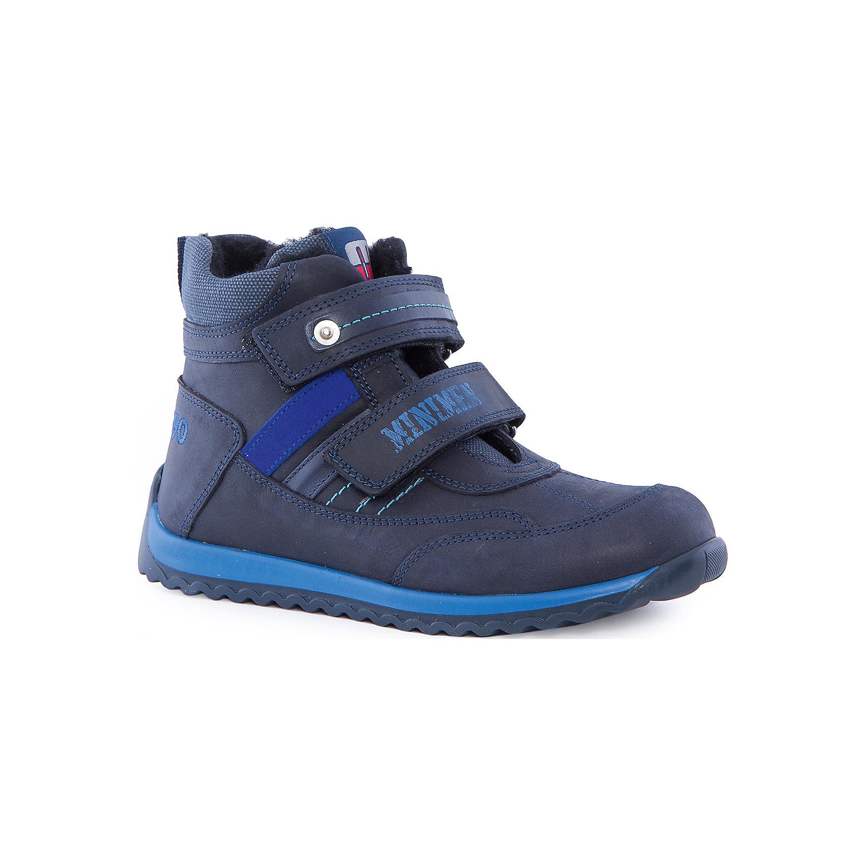 Ботинки для мальчика MinimenУтепленные полуботинки от известного производителя Minimen обеспечат вашему ребенку комфорт и удобство во время прогулок. Ботинки с ортопедической стелькой, рельефной подошвой и стильным дизайном по достоинству оценят любители качественной обуви.<br><br>Дополнительная информация:<br>Стелька: супинатор<br>Цвет: синий<br>Сезон: осень-зима<br>Материал: 100% кожа. Подкладка: 100% шерсть<br><br>Полуботинки Minimen вы можете приобрести в нашем интернет-магазине.<br><br>Ширина мм: 262<br>Глубина мм: 176<br>Высота мм: 97<br>Вес г: 427<br>Цвет: синий<br>Возраст от месяцев: 132<br>Возраст до месяцев: 144<br>Пол: Мужской<br>Возраст: Детский<br>Размер: 35,36,34,33,32,31<br>SKU: 4969932
