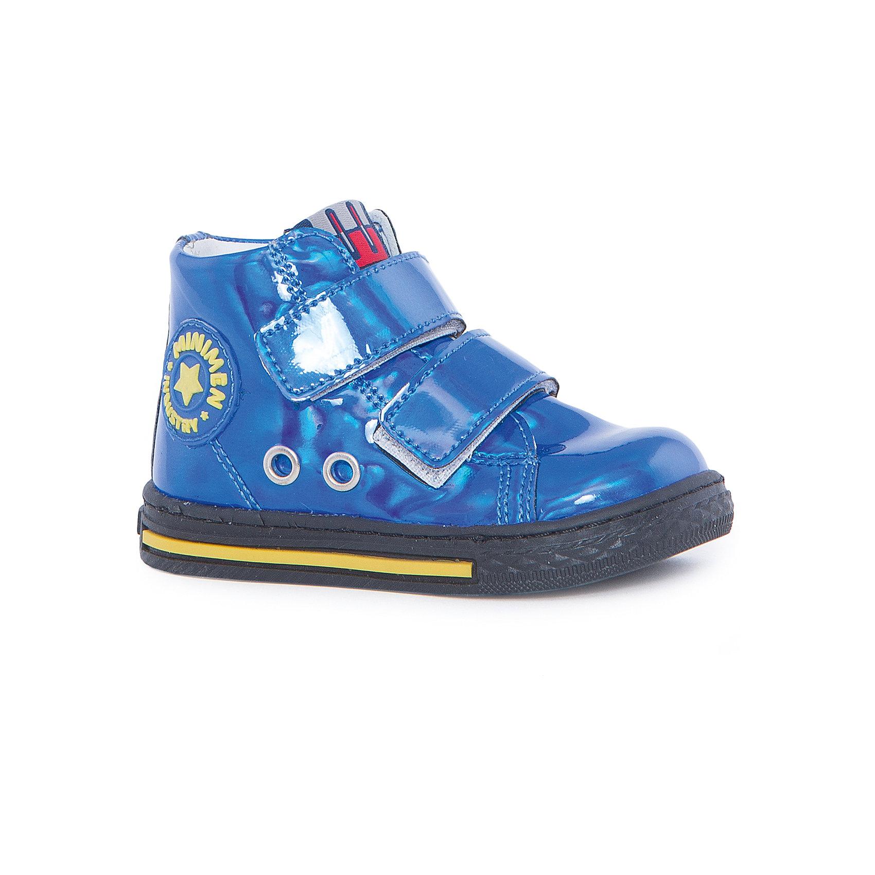 Ботинки для девочки MinimenБотинки<br>Стильные и практичные ботиночки от Minimen. Они имеют ортопедическую стельку и толстую подошву. Ботинки легко надевать и застегивать при помощи липучек. Кроме того, вы можете не переживать о промокших ногах, если ребенок пройдет по луже. Отлично подойдут для осени.<br><br>Дополнительная информация:<br>Стелька: супинатор<br>Цвет: синий<br>Сезон: осень<br>Материал: кожа<br><br>Ботинки Minimen можно купить в нашем интернет-магазине.<br><br>Ширина мм: 262<br>Глубина мм: 176<br>Высота мм: 97<br>Вес г: 427<br>Цвет: голубой<br>Возраст от месяцев: 9<br>Возраст до месяцев: 12<br>Пол: Женский<br>Возраст: Детский<br>Размер: 24,20,21,22,23<br>SKU: 4969991