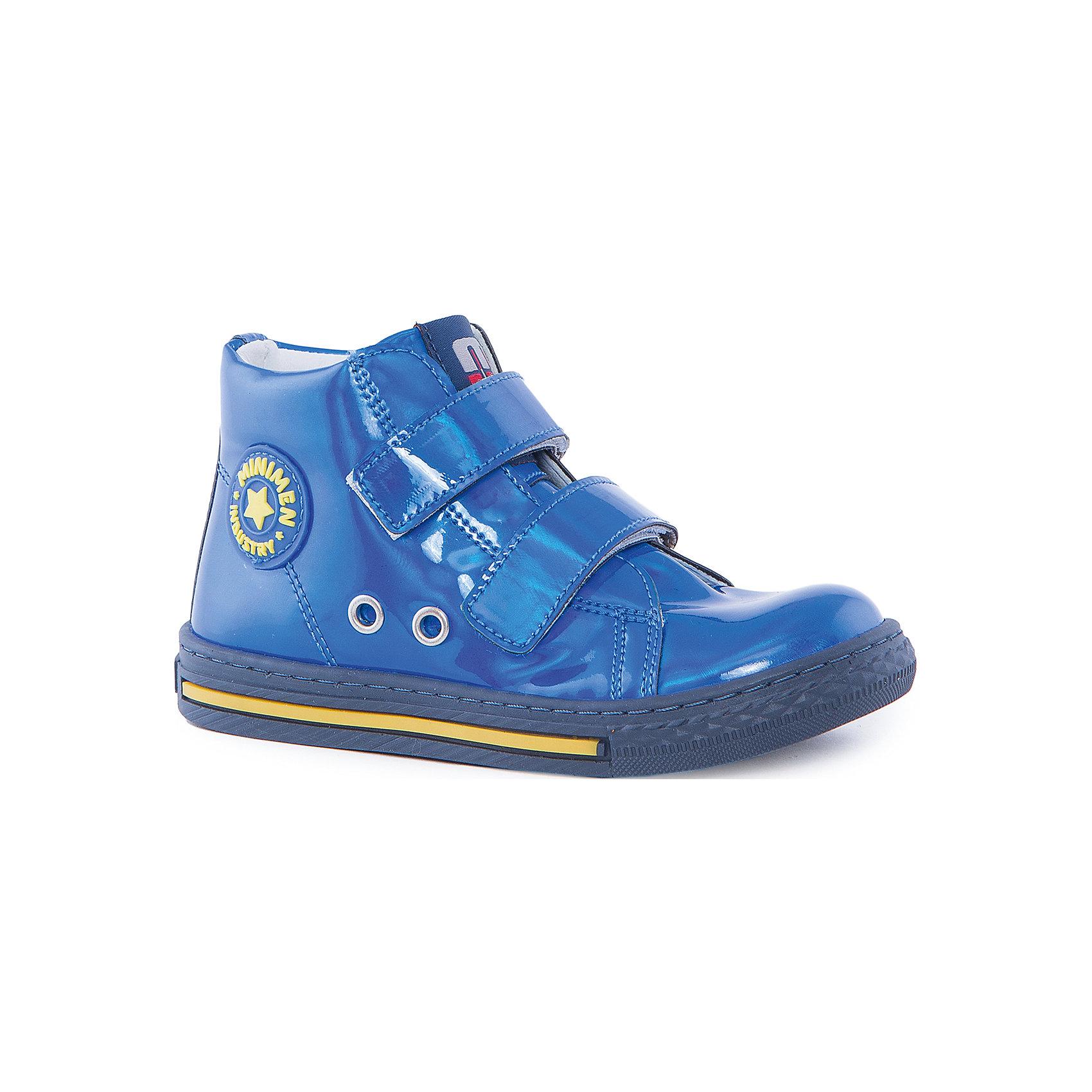 Ботинки для девочки MinimenБотинки<br>Стильные и практичные ботиночки от Minimen. Они имеют ортопедическую стельку и толстую подошву. Ботинки легко надевать и застегивать при помощи липучек. Кроме того, вы можете не переживать о промокших ногах, если ребенок пройдет по луже. Отлично подойдут для осени.<br><br>Дополнительная информация:<br>Стелька: супинатор<br>Цвет: синий<br>Сезон: осень<br>Материал: кожа<br><br>Ботинки Minimen можно купить в нашем интернет-магазине.<br><br>Ширина мм: 262<br>Глубина мм: 176<br>Высота мм: 97<br>Вес г: 427<br>Цвет: голубой<br>Возраст от месяцев: 24<br>Возраст до месяцев: 24<br>Пол: Женский<br>Возраст: Детский<br>Размер: 25,30,29,27,28,26<br>SKU: 4969997