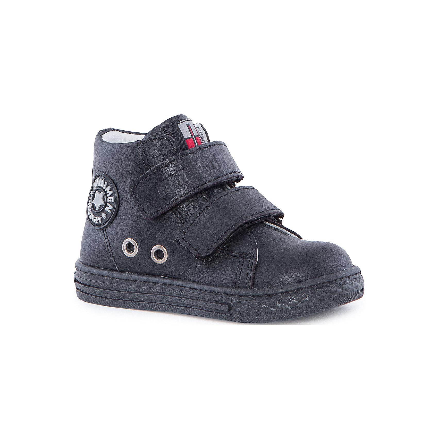 Ботинки для мальчика MinimenСтильные и практичные ботиночки от Minimen. Они имеют ортопедическую стельку и толстую подошву. Ботинки легко надевать и застегивать при помощи липучек. Кроме того, вы можете не переживать о промокших ногах, если ребенок пройдет по луже. Отлично подойдут для осени.<br><br>Дополнительная информация:<br>Стелька: супинатор<br>Цвет: темно-синий<br>Сезон: осень<br>Материал: кожа<br><br>Ботинки Minimen можно купить в нашем интернет-магазине.<br><br>Ширина мм: 262<br>Глубина мм: 176<br>Высота мм: 97<br>Вес г: 427<br>Цвет: синий<br>Возраст от месяцев: 9<br>Возраст до месяцев: 12<br>Пол: Мужской<br>Возраст: Детский<br>Размер: 20,24,23,22,21<br>SKU: 4970004