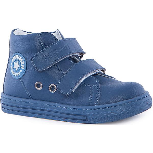 Ботинки для мальчика MinimenБотинки<br>Стильные и практичные ботиночки от Minimen. Они имеют ортопедическую стельку и толстую подошву. Ботинки легко надевать и застегивать при помощи липучек. Кроме того, вы можете не переживать о промокших ногах, если ребенок пройдет по луже. Отлично подойдут для осени.<br><br>Дополнительная информация:<br>Стелька: супинатор<br>Цвет: синий<br>Сезон: осень<br>Материал: кожа<br><br>Ботинки Minimen можно купить в нашем интернет-магазине.<br>Ширина мм: 262; Глубина мм: 176; Высота мм: 97; Вес г: 427; Цвет: синий; Возраст от месяцев: 24; Возраст до месяцев: 24; Пол: Мужской; Возраст: Детский; Размер: 25,26,30,29,28,27; SKU: 4970017;