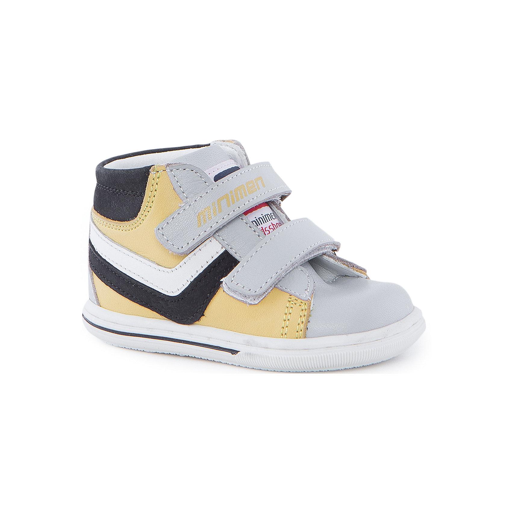 Ботинки для мальчика MinimenОбувь для малышей<br>Эти ботинки от Minimen невероятно удобные и практичные. Они имеют ортопедическую стельку, позволяющую стопе формироваться правильно, уплотненный задник и мыс. А приятный дизайн придется по вкусу и детям, и родителям!<br><br>Дополнительная информация:<br>Стелька: супинатор<br>Сезон: весна-лето<br>Материал: 100% кожа<br>Цвет: желтый<br><br>Ботинки Minimen можно приобрести в нашем интернет-магазине.<br><br>Ширина мм: 262<br>Глубина мм: 176<br>Высота мм: 97<br>Вес г: 427<br>Цвет: серый<br>Возраст от месяцев: 3<br>Возраст до месяцев: 6<br>Пол: Мужской<br>Возраст: Детский<br>Размер: 18,22,19,20,21<br>SKU: 4970037