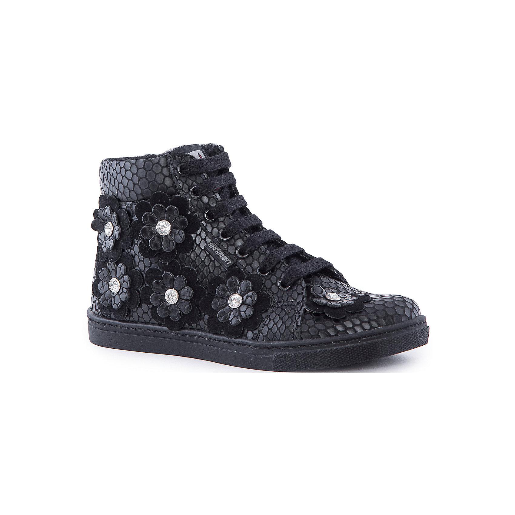 Ботинки для девочки MinimenУтепленные ботинки от Minimen отлично подойдут для осени и теплой зимы. Они изготовлены из натуральной кожи с шерстяным утеплителем. Ботинки имеют ортопедическую стельку для профилактики плоскостопия, удобную шнуровку. Украшены аппликациями в виде цветочков и стразами. Отличный вариант для детей, любящих сочетание моды и комфорта!<br><br>Дополнительная информация:<br>Цвет: черный<br>Сезон: осень-зима<br>Материал: 100% кожа. Подкладка: 100% шерсть<br>Стелька: супинатор<br><br>Ботинки Minimen вы можете приобрести в нашем интернет-магазине.<br><br>Ширина мм: 262<br>Глубина мм: 176<br>Высота мм: 97<br>Вес г: 427<br>Цвет: черный<br>Возраст от месяцев: 108<br>Возраст до месяцев: 120<br>Пол: Женский<br>Возраст: Детский<br>Размер: 33,31,36,35,34,32<br>SKU: 4970063
