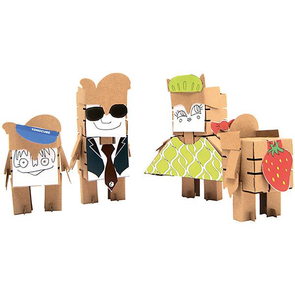 Конструктор Семейка, YohocubeБренды конструкторов<br>Дети, которые любят творчество, обязательно оценят этот игровой набор! В него включены заготовки для создания целой семьи из четырех человек и стикеры для их украшения. Картонные фигурки можно раскрасить самому - такая игра никогда не надоест!<br>Фигурки собираются без помощи клея. В набор входят: заготовки, из которых можно сложить фигурки: папа, мама, сын, дочка. В этих фигурках малыши потом могут хранить свои ценные мелочи! Игры с таким комплектом помогут ребенку развивать воображение, мелкую моторику и творческое мышление! Игрушка сделана из высококачественных и безопасных для детей материалов.<br><br>Дополнительная информация:<br><br>цвет: разноцветный;<br>материал: картон;<br>комплектация: 4 фигурки;<br>размер кубика: 8 см.<br><br>Конструктор Семейка от бренда Yohocube можно купить в нашем магазине.<br>Ширина мм: 460; Глубина мм: 360; Высота мм: 20; Вес г: 350; Возраст от месяцев: 72; Возраст до месяцев: 144; Пол: Унисекс; Возраст: Детский; SKU: 4970188;