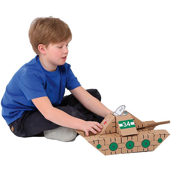Конструктор Танк, YohocubeКартонные конструкторы<br>Дети, которые любят творчество, обязательно оценят этот конструктор! В него включены заготовки для создания танка и стикеры для его украшения. Картонные фигурки можно раскрасить самому - такая игра никогда не надоест!<br>Фигурки собираются без помощи клея. В набор входят 18 деталей. В этих фигурках малыши потом могут хранить свои ценные мелочи! Игры с таким комплектом помогут ребенку развивать воображение, мелкую моторику и творческое мышление! Игрушка сделана из высококачественных и безопасных для детей материалов.<br><br>Дополнительная информация:<br><br>цвет: разноцветный;<br>материал: картон;<br>комплектация: 18 деталей, стикеры;<br>размер кубика: 8 см.<br><br>Конструктор Танк от бренда Yohocube можно купить в нашем магазине.<br>Ширина мм: 460; Глубина мм: 360; Высота мм: 20; Вес г: 350; Возраст от месяцев: 72; Возраст до месяцев: 144; Пол: Унисекс; Возраст: Детский; SKU: 4970191;