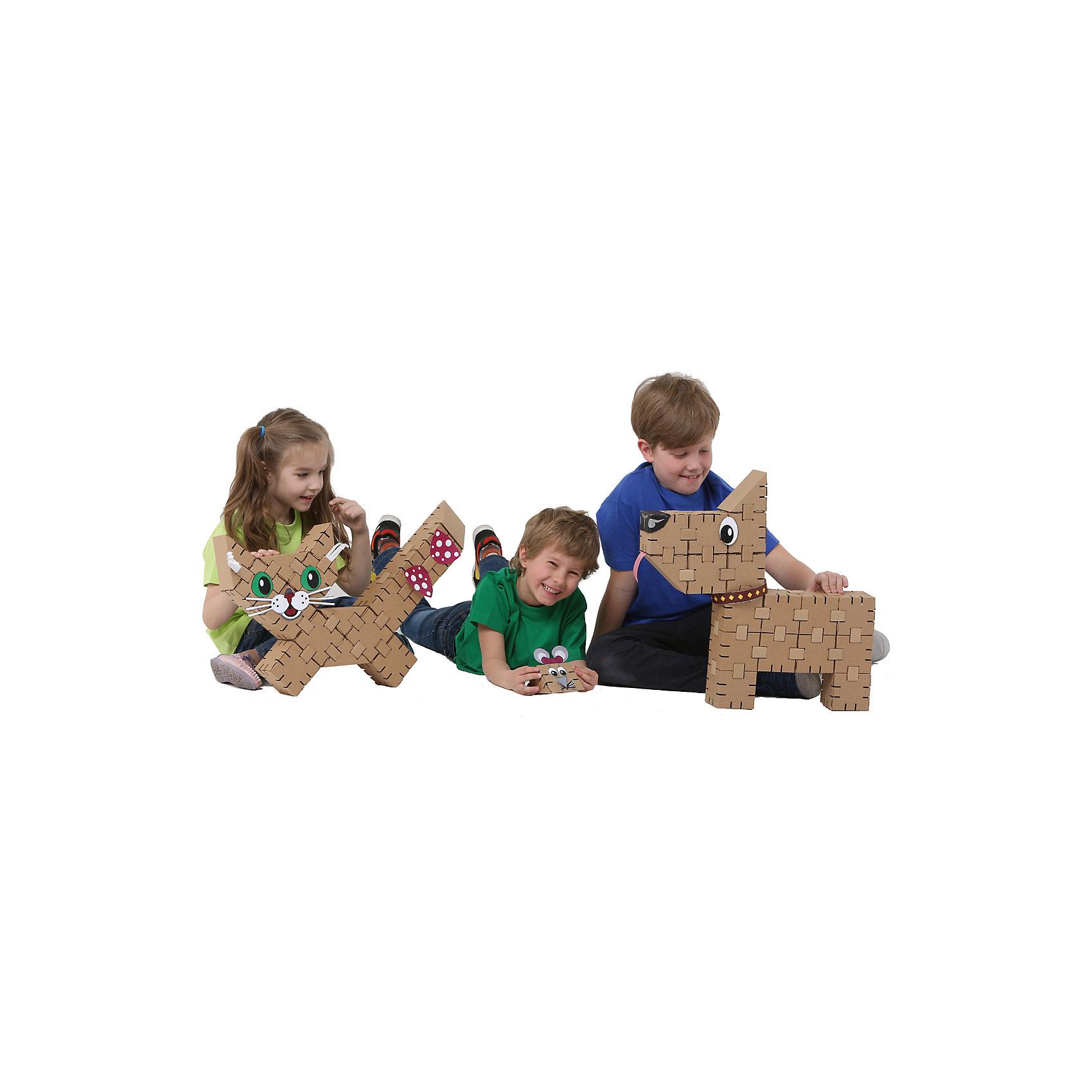 Конструктор Домашние питомцы , YohocubeБренды конструкторов<br>Дети, которые любят творчество, обязательно оценят этот конструктор! В него включены заготовки для создания кота и собаки, а также стикеры для их украшения. Картонные фигурки можно раскрасить самому - такая игра никогда не надоест!<br>Фигурки собираются без помощи клея. В набор входят 34 детали В этих фигурках малыши потом могут хранить свои ценные мелочи! Игры с таким комплектом помогут ребенку развивать воображение, мелкую моторику и творческое мышление! Игрушка сделана из высококачественных и безопасных для детей материалов.<br><br>Дополнительная информация:<br><br>материал: картон;<br>комплектация: 34 детали, стикеры;<br>размер кубика: 8 см.<br><br>Конструктор Домашние питомцы от бренда Yohocube можно купить в нашем магазине.<br><br>Ширина мм: 460<br>Глубина мм: 360<br>Высота мм: 60<br>Вес г: 700<br>Возраст от месяцев: 72<br>Возраст до месяцев: 144<br>Пол: Унисекс<br>Возраст: Детский<br>SKU: 4970194