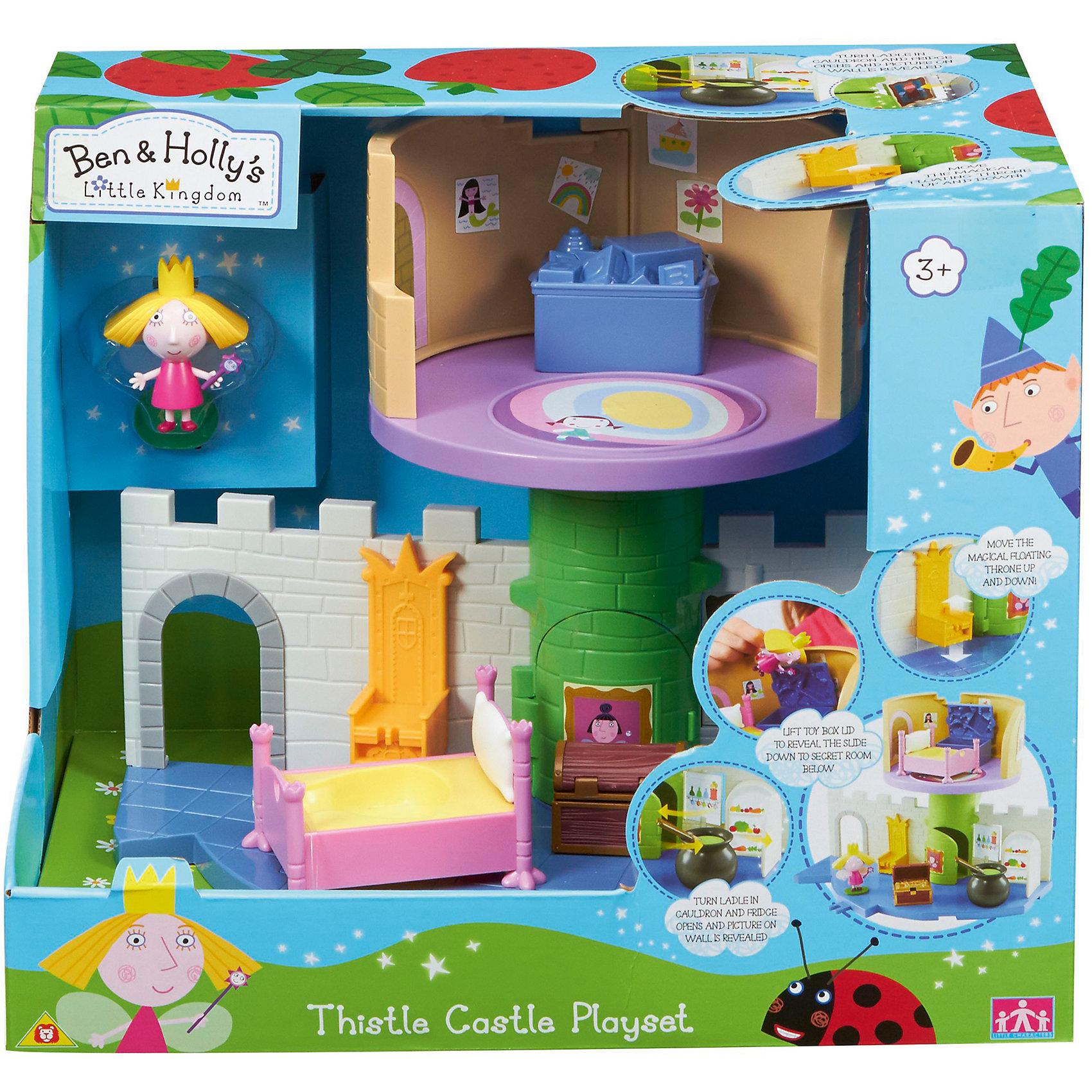 Игровой набор Волшебный замок с фигуркой Холли, Бен и ХоллиИгровой набор Волшебный замок с фигуркой Холли приведет в восторг любителей мультика Маленькое королевство Бена и Холли. В наборе есть и замок, в котором можно поселить принцессу, и различная мебель для неё, и фигурка Холли с подвижными деталями. Благодаря двигающимся рукам и ногам героев, с ними можно придумать множество игр, тем более, чтоб малышам нужно будет активнее задействовать пальчики и творческое мышление!<br>Набор сделан из высококачественного пластика, который безопасен для малышей. Набор яркий, очень симпатично смотрится. Он будет отличным подарком ребенку! Подобные игрушки отлично помогают развитию у детей воображения и моторики.<br><br>Дополнительная информация:<br><br>цвет: разноцветный;<br>материал: пластик;<br>комплектация: замок, мебель, фигурка Холли;<br>размер фигурки: 6 см;<br>размер: 32 х 25 х 23 см.<br><br>Игровой набор Волшебный замок с фигуркой Холли от бренда Бен и Холли можно приобрести в нашем интернет-магазине.<br><br>Ширина мм: 340<br>Глубина мм: 280<br>Высота мм: 235<br>Вес г: 1318<br>Возраст от месяцев: 36<br>Возраст до месяцев: 2147483647<br>Пол: Унисекс<br>Возраст: Детский<br>SKU: 4970296