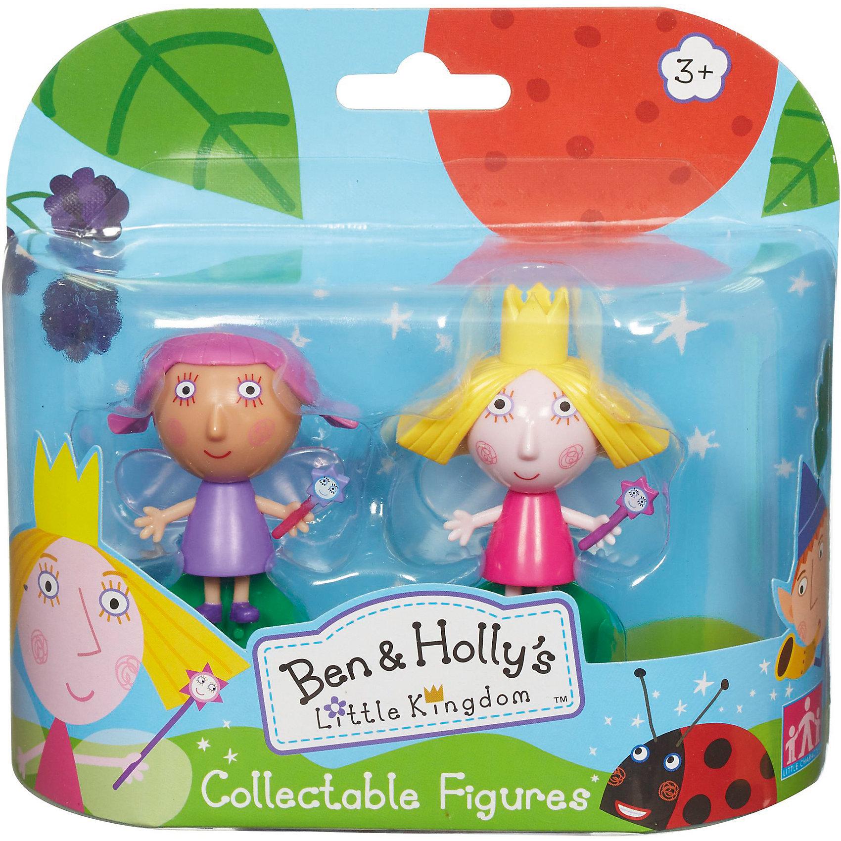 Игровой набор Холли и Вайолет, Бен и ХоллиИгровой набор Холли и Вайолет приведет в восторг любителей мультика Маленькое королевство Бена и Холли. В наборе есть фигуркиХолли и Вайолет с подвижными деталями. Благодаря двигающимся рукам и ногам героев, с ними можно придумать множество игр, тем более, чтоб малышам нужно будет активнее задействовать пальчики и творческое мышление!<br>Набор сделан из высококачественного пластика, который безопасен для малышей. Набор яркий, очень симпатично смотрится. Он будет отличным подарком ребенку! Подобные игрушки отлично помогают развитию у детей воображения и моторики.<br><br>Дополнительная информация:<br><br>цвет: разноцветный;<br>материал: пластик;<br>комплектация: фигурки Холли и Вайолет;<br>размер фигурки: 6 см;<br>размер упаковки: 14,5 х 15,5 х 5 см.<br><br>Игровой набор Холли и Вайолет от бренда Бен и Холли можно приобрести в нашем интернет-магазине.<br><br>Ширина мм: 145<br>Глубина мм: 155<br>Высота мм: 50<br>Вес г: 118<br>Возраст от месяцев: 36<br>Возраст до месяцев: 2147483647<br>Пол: Унисекс<br>Возраст: Детский<br>SKU: 4970300