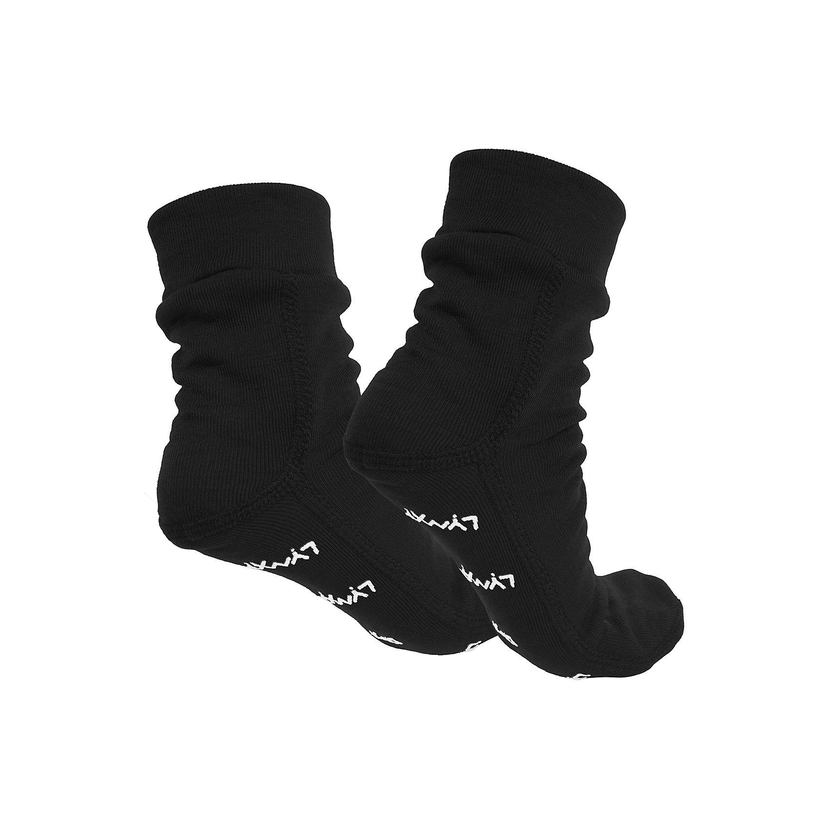 Термоноски LynxyФлис и термобелье<br>Термоноски от известного бренда Lynxy.<br>Детские носочки выполнены из мягкого термополотна Trevira с микроначесом с изнаночной стороны. Благодаря эластичному и мягкому полотну изделие приятно к телу, плоские швы и эргономические лекала обеспечивают комфортное прилегание. Идеально сохраняет тепло и выводит влагу, позволяя коже оставаться сухой. Благодаря присутствию ионов серебра в структуре полотна, имеет противомикробные свойства. Идеально подходит для длительных прогулок и активных занятий спортом в холодное время года до - 30 градусов. Рекомендуется деликатная машинная стирка при температуре 40 градусов без предварительного замачивания.<br>Состав:<br>полиэстер 95%, вискоза 5%<br><br>Ширина мм: 87<br>Глубина мм: 10<br>Высота мм: 105<br>Вес г: 115<br>Цвет: черный<br>Возраст от месяцев: 108<br>Возраст до месяцев: 120<br>Пол: Унисекс<br>Возраст: Детский<br>Размер: 33-35,19/20,20-23,23-26,27-29,29-32<br>SKU: 4971337