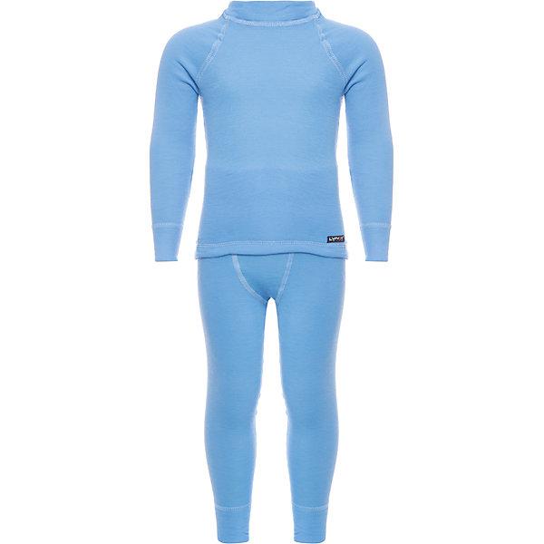 Комплект термобелья LynxyФлис и термобелье<br>Характеристики товара:<br><br>• цвет: голубой<br>• комплектация: лонгслив и рейтузы<br>• состав ткани: 95% полиэстер, 5% вискоза <br>• подкладка: нет<br>• сезон: зима<br>• температурный режим: от -30 до 0<br>• пояс: резинка<br>• длинные рукава<br>• страна бренда: Россия<br>• страна изготовитель: Россия<br><br>Это термобелье для ребенка выполнено в приятном цвете. Качественный материал комплекта термобелья для детей позволяет коже дышать и впитывает лишнюю влагу. Детский комплект термобелья легко надевается благодаря эластичному материалу. <br><br>Комплект термобелья Lynxy (Линкси) можно купить в нашем интернет-магазине.<br><br>Ширина мм: 123<br>Глубина мм: 10<br>Высота мм: 149<br>Вес г: 209<br>Цвет: голубой<br>Возраст от месяцев: 24<br>Возраст до месяцев: 36<br>Пол: Унисекс<br>Возраст: Детский<br>Размер: 98,128,122,116,110,104<br>SKU: 4971478