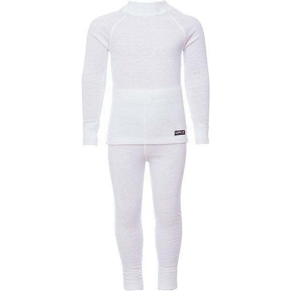 Комплект термобелья LynxyФлис и термобелье<br>Характеристики товара:<br><br>• цвет: белый<br>• комплектация: лонгслив и рейтузы<br>• состав ткани: 95% полиэстер, 5% вискоза <br>• подкладка: нет<br>• сезон: зима<br>• температурный режим: от -30 до 0<br>• пояс: резинка<br>• длинные рукава<br>• страна бренда: Россия<br>• страна изготовитель: Россия<br><br>Материал комплекта термобелья для детей позволяет коже дышать и впитывает лишнюю влагу. Инновационная ткань Trevira с микроначесом приятна на ощупь. Детский комплект термобелья состоит из лонгслива и рейтуз. Это термобелье можно надевать как самостоятельный комплект или нижний слой в морозы до - 30 градусов. <br><br>Комплект термобелья Lynxy (Линкси) можно купить в нашем интернет-магазине.<br>Ширина мм: 123; Глубина мм: 10; Высота мм: 149; Вес г: 209; Цвет: белый; Возраст от месяцев: 36; Возраст до месяцев: 48; Пол: Унисекс; Возраст: Детский; Размер: 128,122,116,110,104,98; SKU: 4971520;