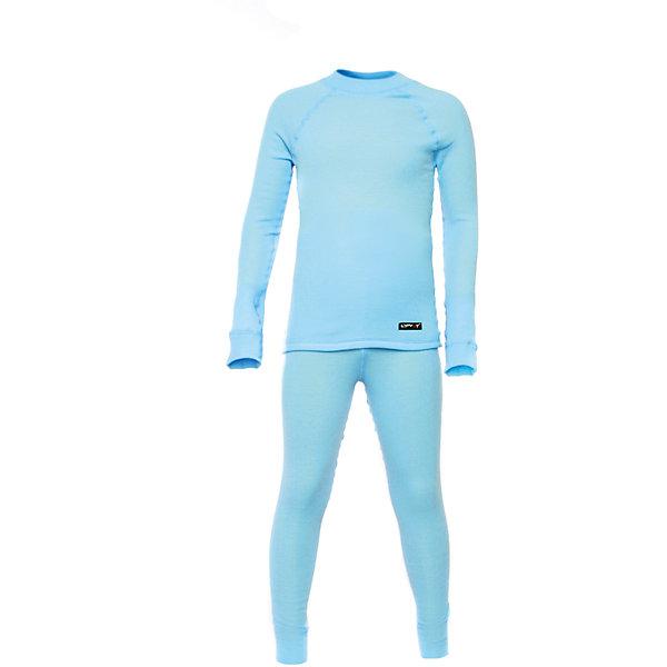 Комплект термобелья LynxyФлис и термобелье<br>Характеристики товара:<br><br>• цвет: голубой<br>• комплектация: лонгслив и рейтузы<br>• состав ткани: 95% полиэстер, 5% вискоза <br>• подкладка: нет<br>• сезон: зима<br>• температурный режим: от -30 до 0<br>• пояс: резинка<br>• длинные рукава<br>• страна бренда: Россия<br>• страна изготовитель: Россия<br><br>Голубое термобелье для ребенка выполнено в приятной расцветке. Качественный материал комплекта термобелья для детей позволяет коже дышать и впитывает лишнюю влагу. Детский комплект термобелья легко надевается благодаря эластичному материалу. <br><br>Комплект термобелья Lynxy (Линкси) можно купить в нашем интернет-магазине.<br>Ширина мм: 123; Глубина мм: 10; Высота мм: 149; Вес г: 209; Цвет: синий; Возраст от месяцев: 60; Возраст до месяцев: 72; Пол: Унисекс; Возраст: Детский; Размер: 116,86,104,92,128,122,110,98; SKU: 4971541;