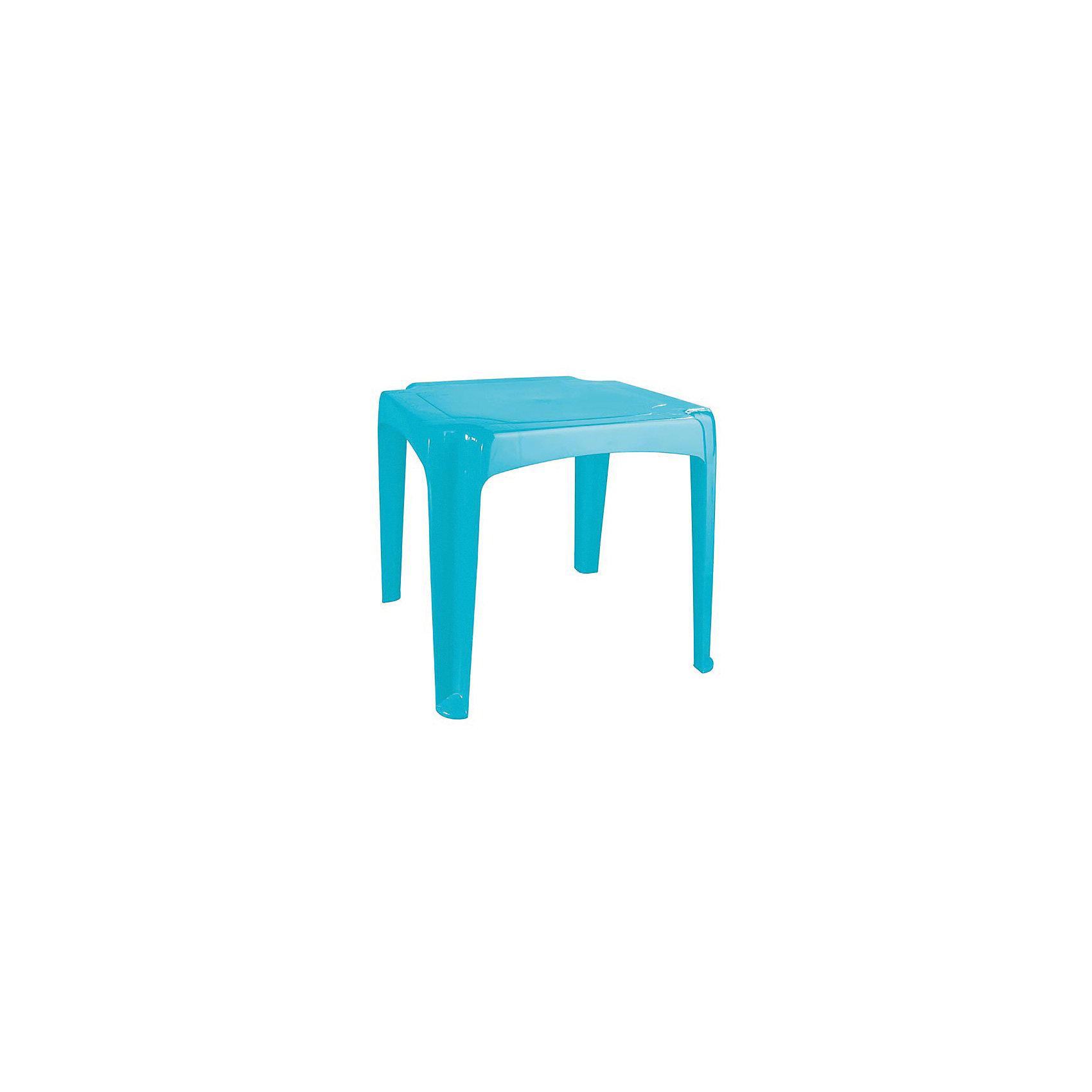 Стол 520х520х475 мм, Пластишка, голубой