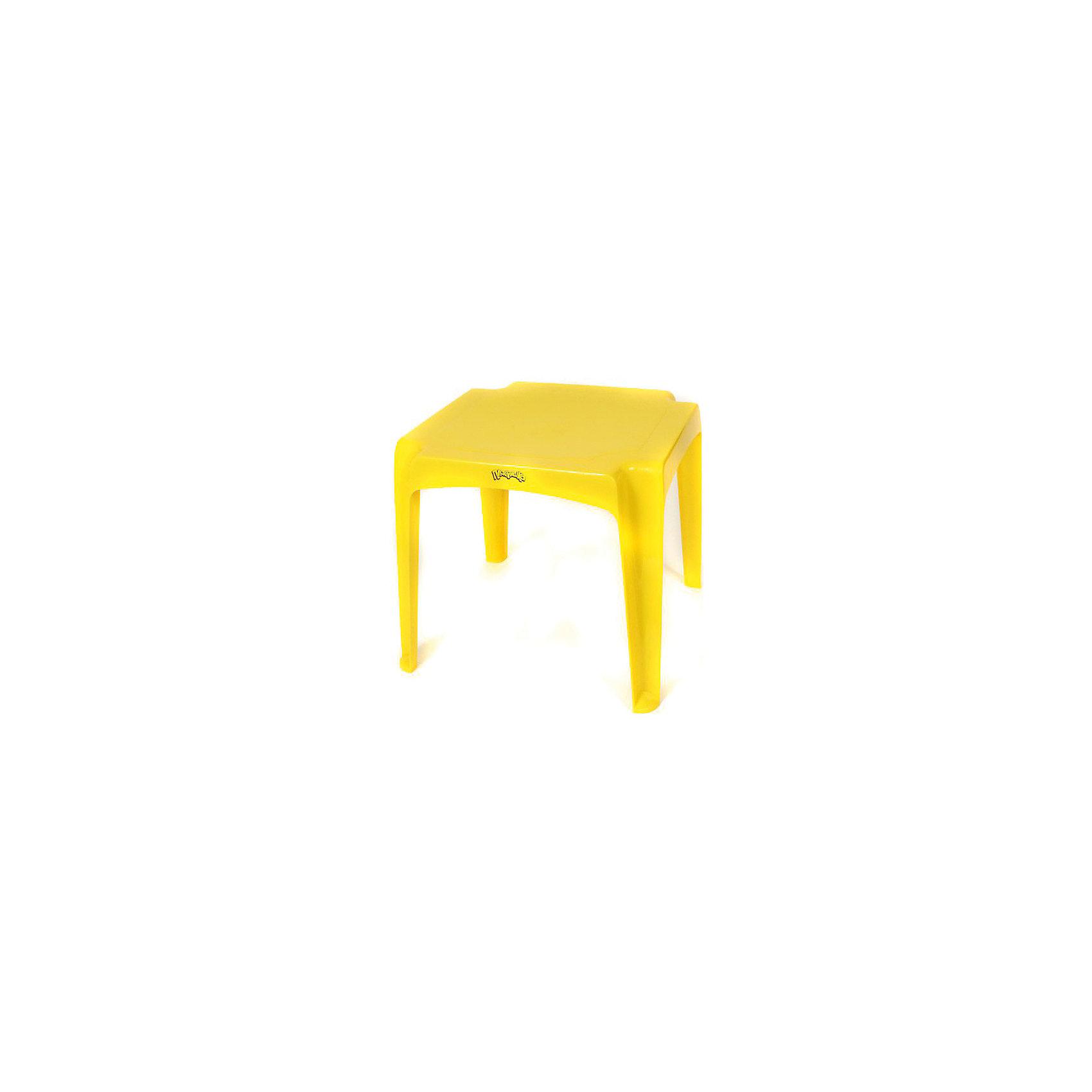 Стол 520х520х475 мм, Пластишка, желтыйСтол 520х520х475 мм, Пластишка, желтый – подойдет для творчества, учебы и досуга.<br>Небольшой и компактный столик сделан из качественного полипропилена. На таком столе будет удобно заниматься творчеством: например лепить, рисовать и т. д. Столик имеет устойчивую конструкцию, поэтому ребенок может облокотиться на него без риска, что стол перевернется. Также столик оснащен безопасными закругленными углами.<br><br>Дополнительная информация: <br><br>- материал: полипропилен<br>- цвет: желтый<br>- размер: 52х52х47 см<br><br>Стол 520х520х475 мм, Пластишка, желтый можно купить в нашем интернет магазине.<br><br>Ширина мм: 520<br>Глубина мм: 520<br>Высота мм: 640<br>Вес г: 1658<br>Возраст от месяцев: 24<br>Возраст до месяцев: 72<br>Пол: Унисекс<br>Возраст: Детский<br>SKU: 4972203