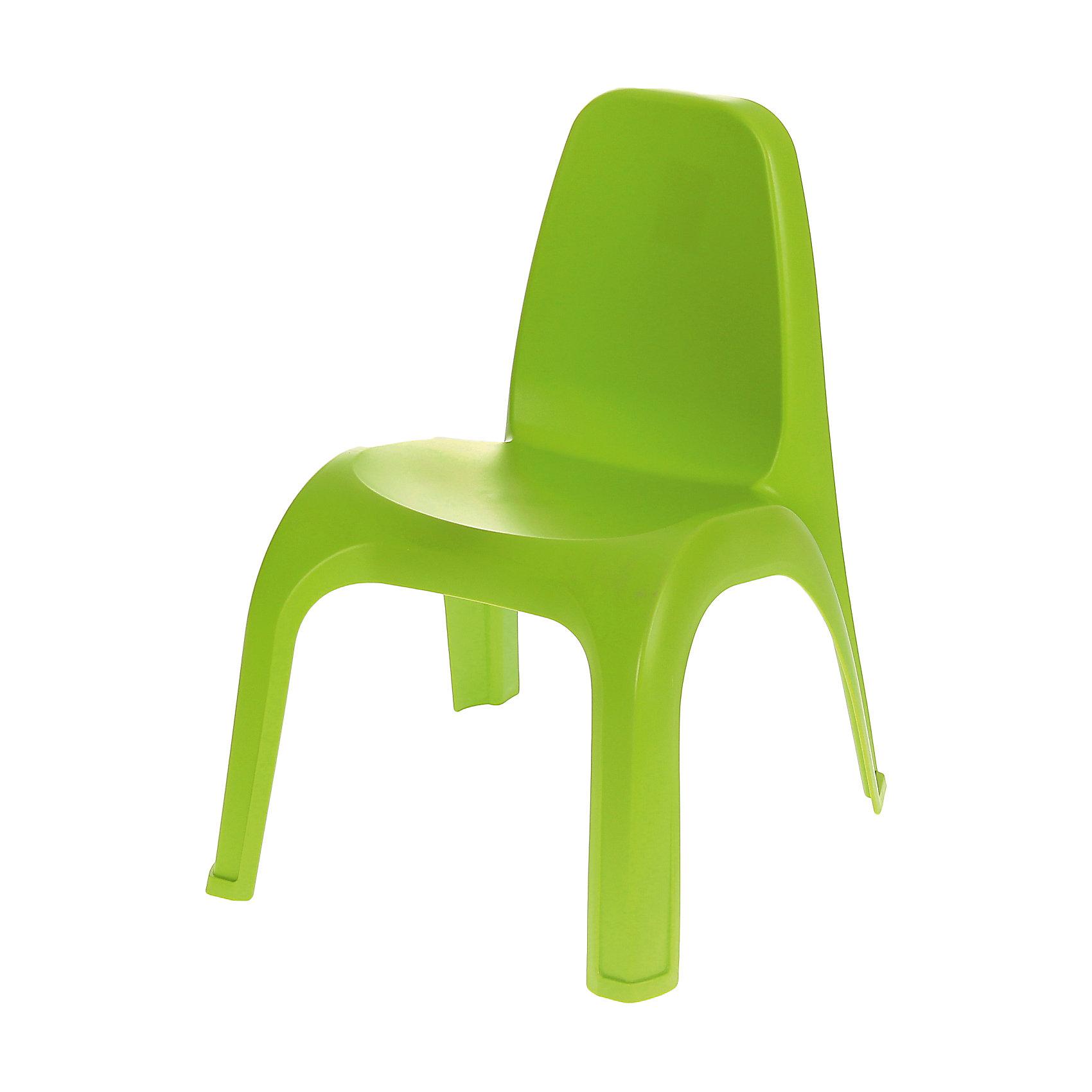 Пластишка Стул 380х425х525 мм, Пластишка, зелёный пластишка нагрудник пластишка