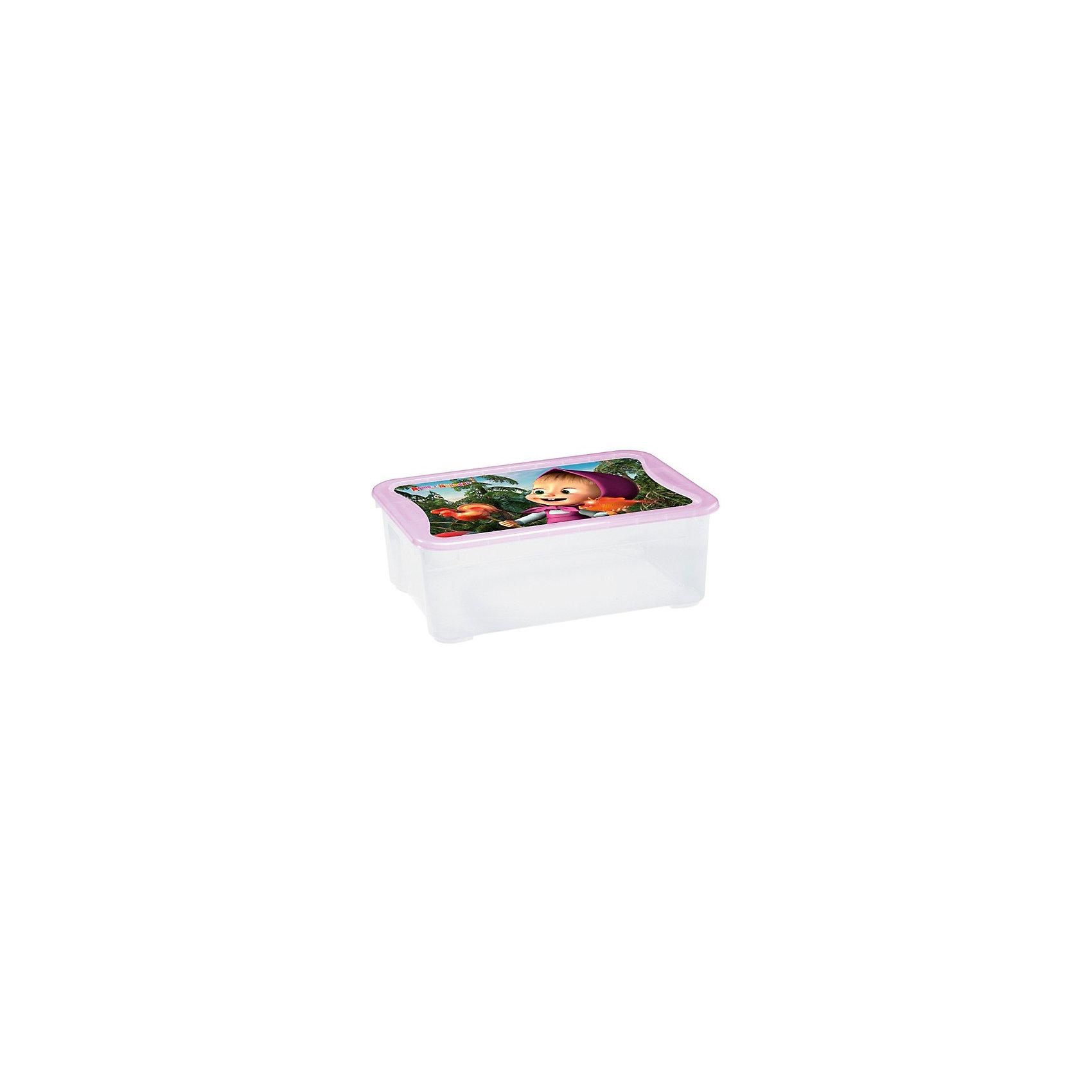 Пластишка Ящик для игрушек 555х390х190 мм Маша и Медведь, Пластишка, сиреневый пластишка горка для купания детей пластишка